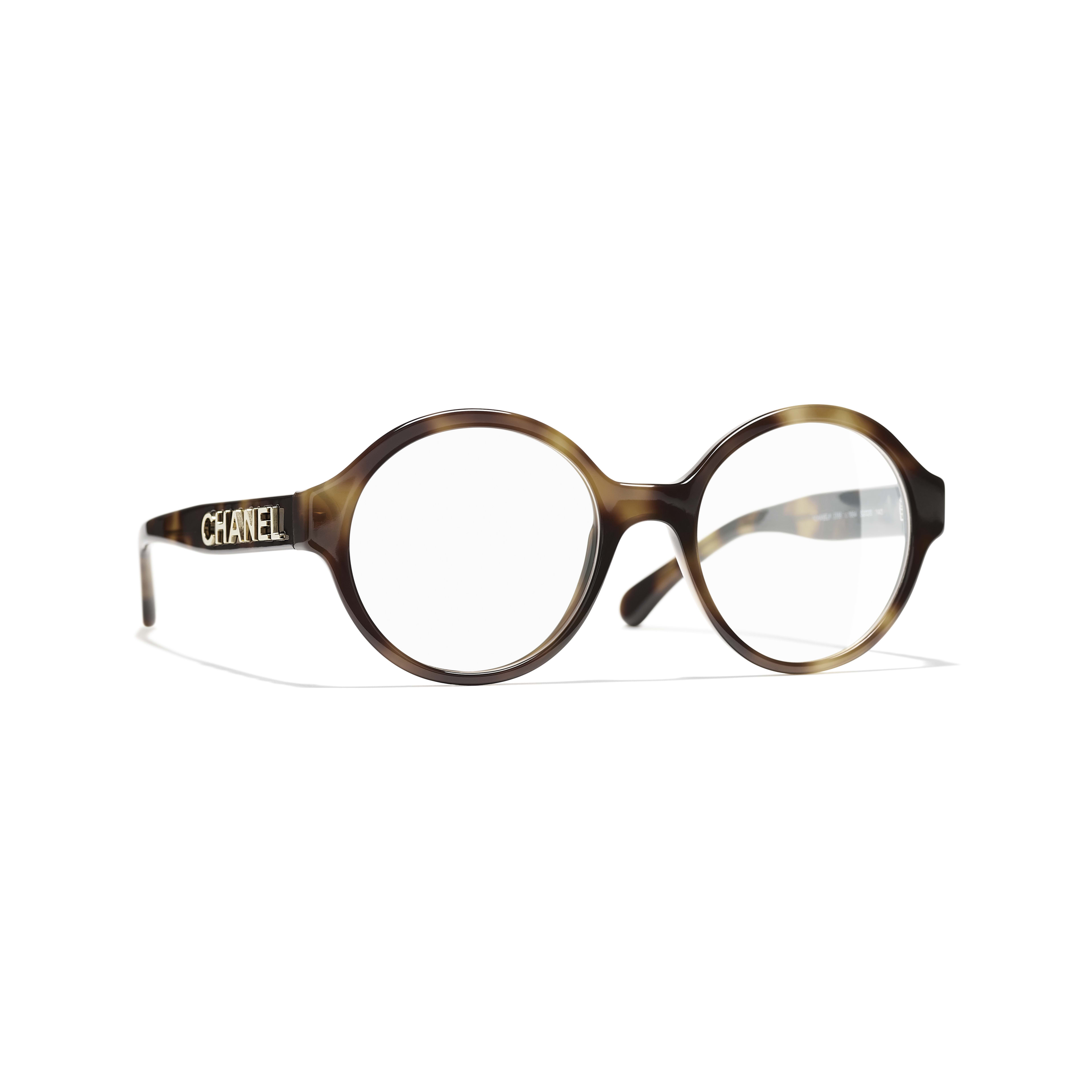 Round Eyeglasses - Tortoise - Acetate - CHANEL - Default view - see standard sized version
