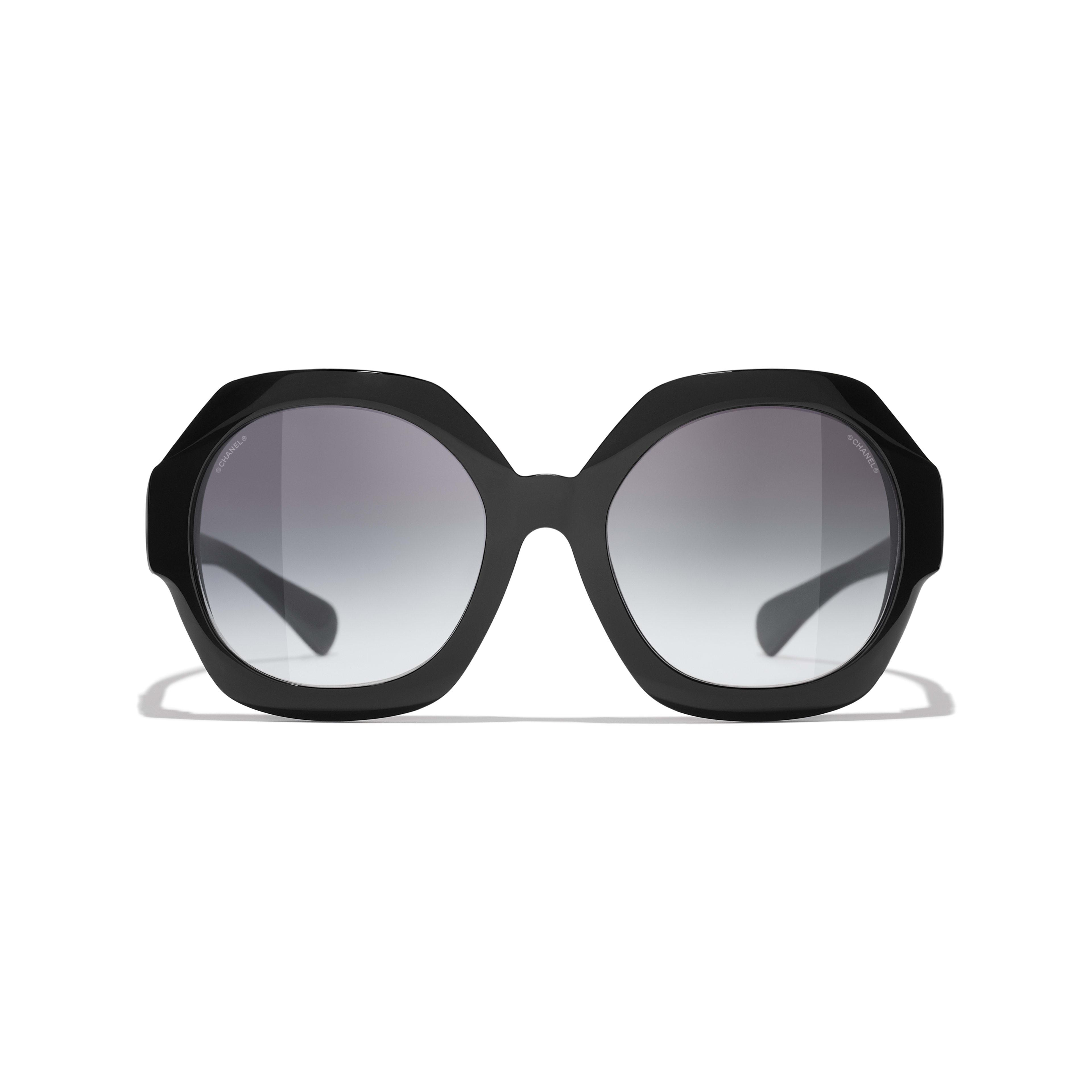 Ronde zonnebril - Zwart - Acetaat - CHANEL - Alternatieve weergave - zie versie op standaardgrootte