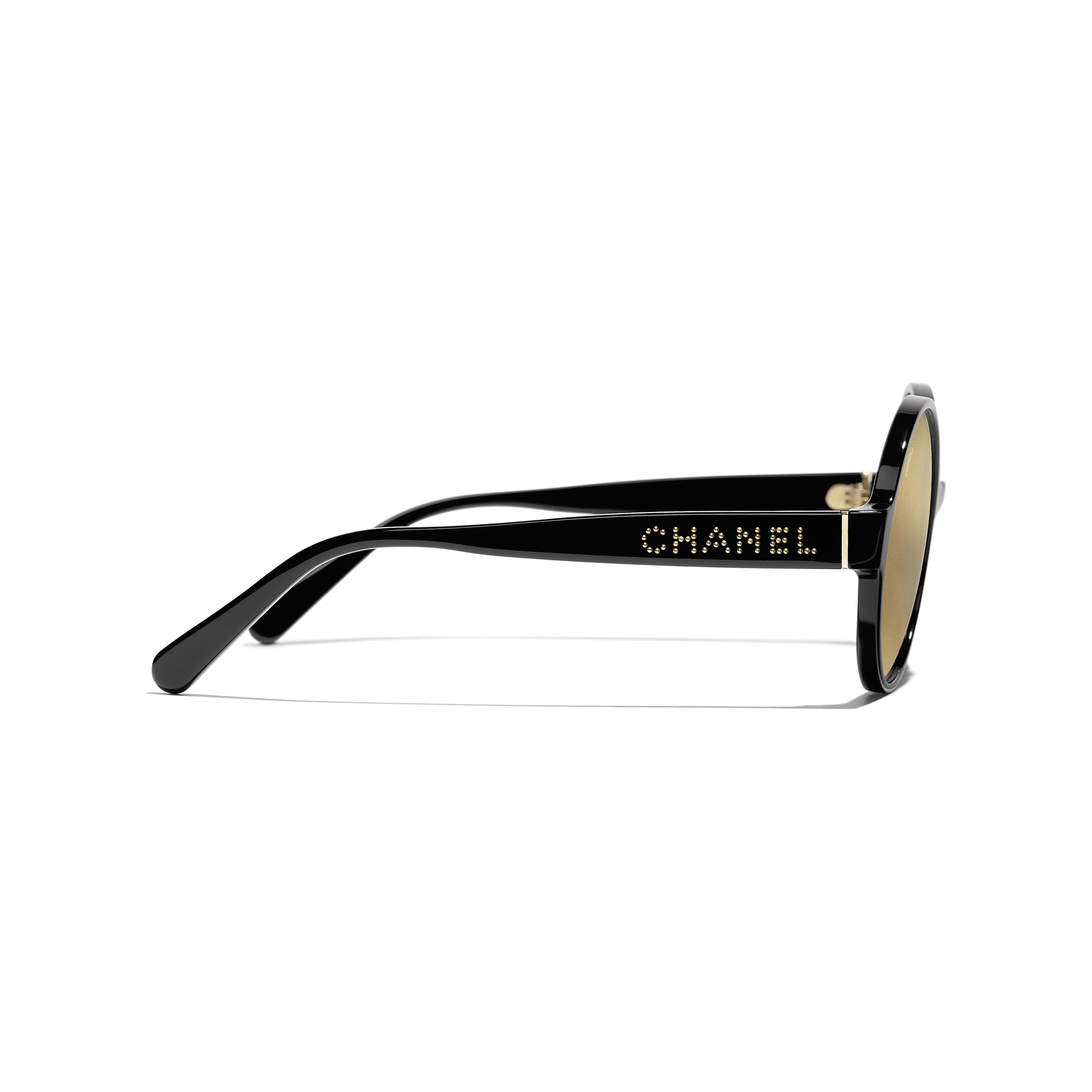 Round Sunglasses - Black - Acetate - Other view - see standard sized version