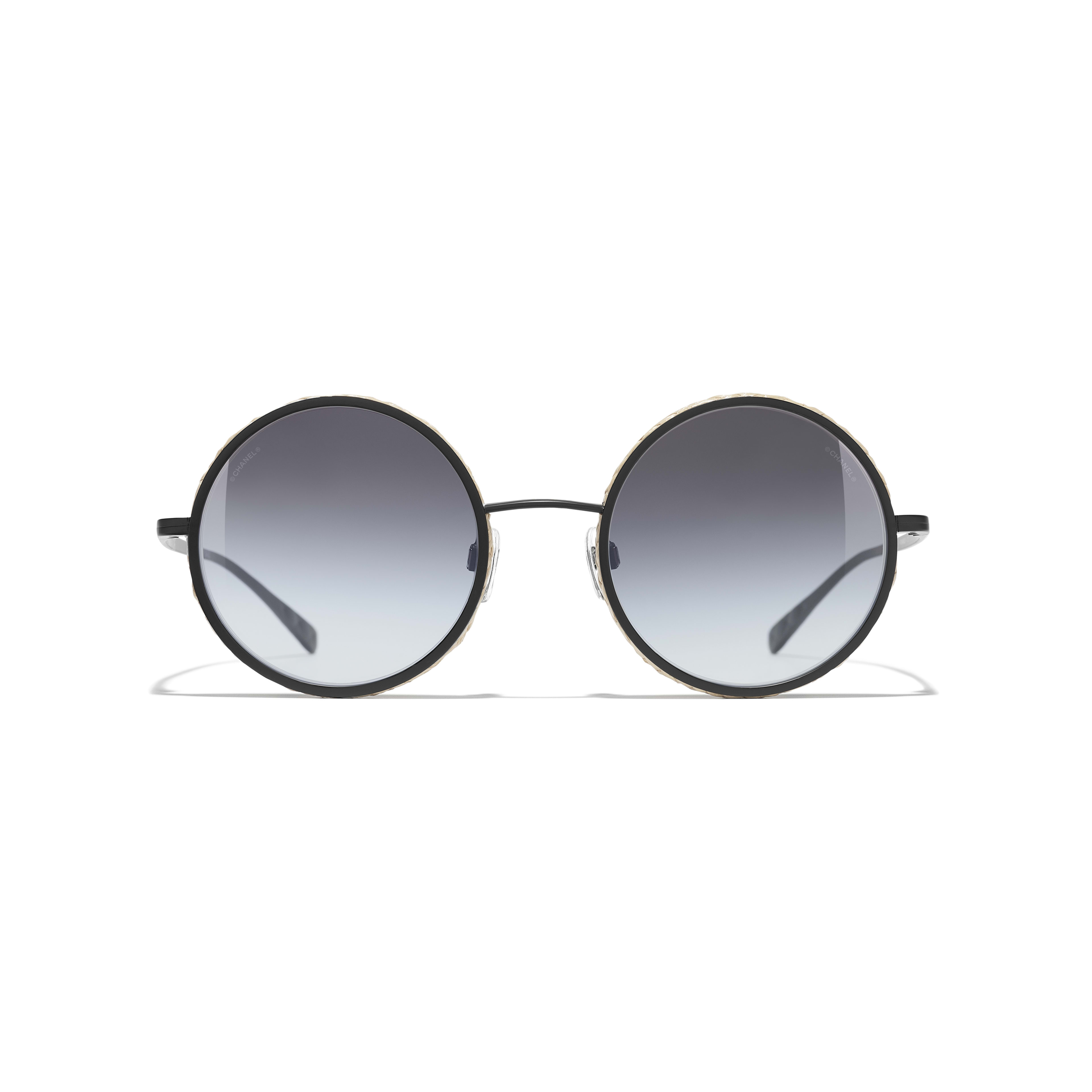 Round Sunglasses - Black - Metal & Rope - Alternative view - see standard sized version