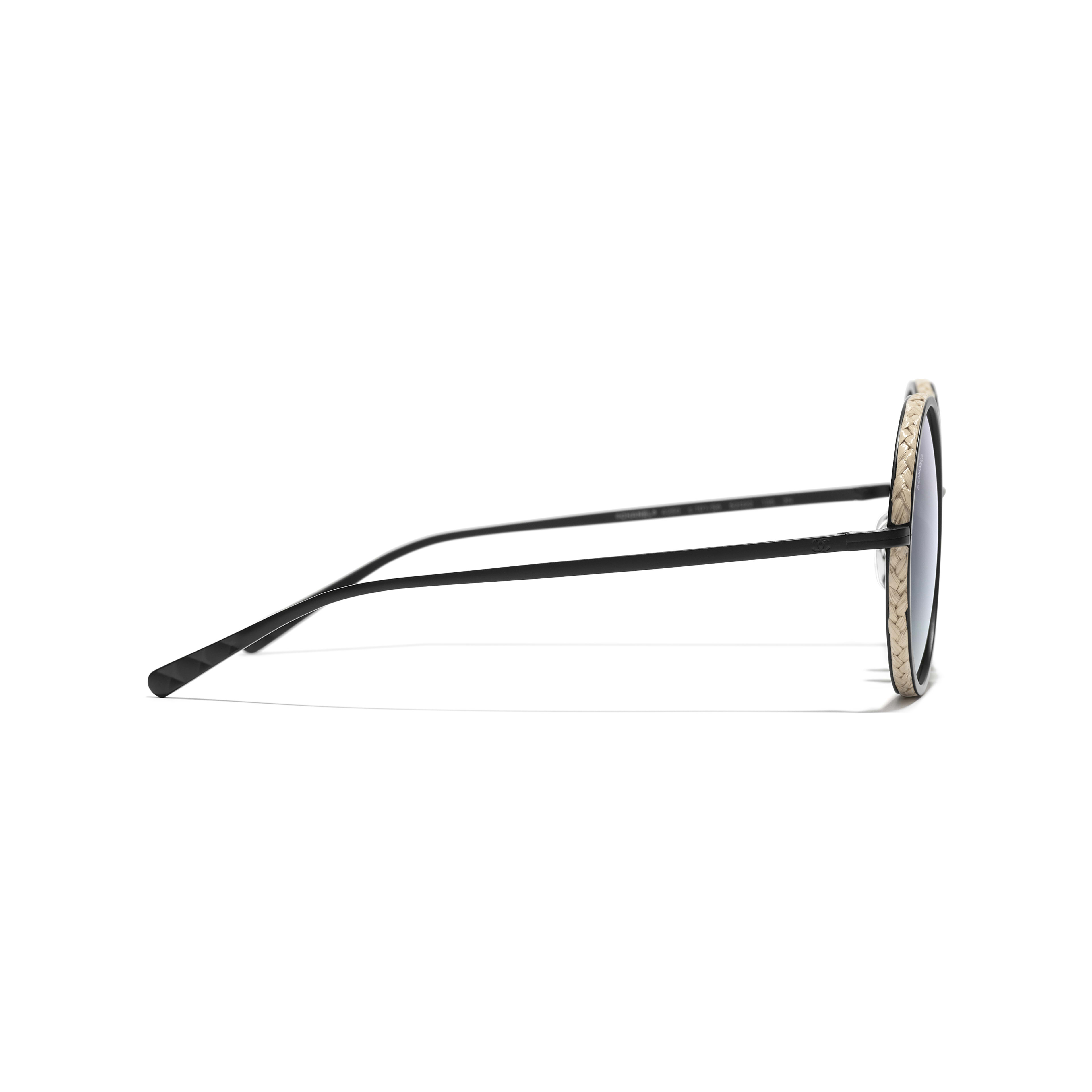 Round Sunglasses - Black - Metal & Rope - Other view - see standard sized version