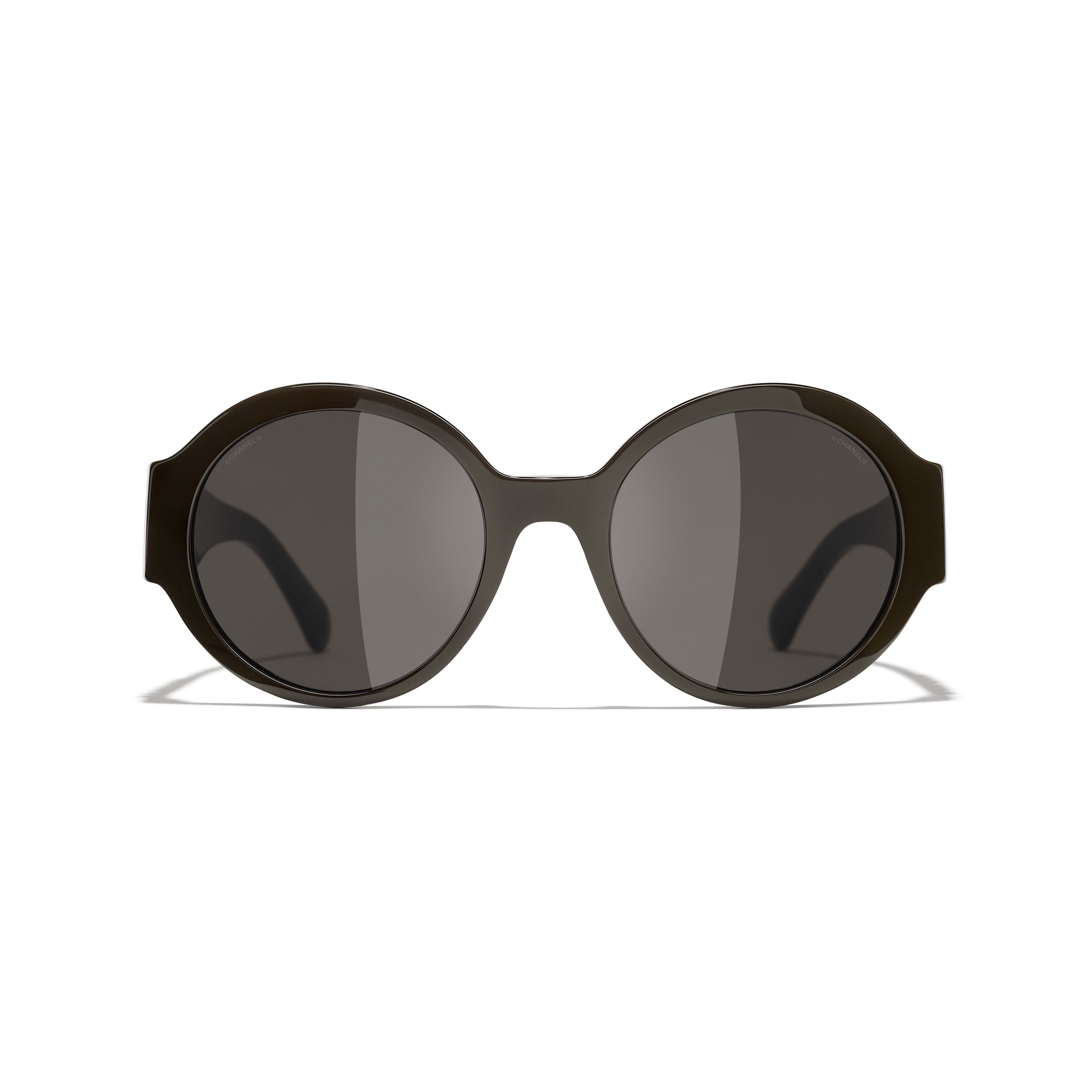 Round Sunglasses - Brown - Acetate - CHANEL - Alternative view - see standard sized version