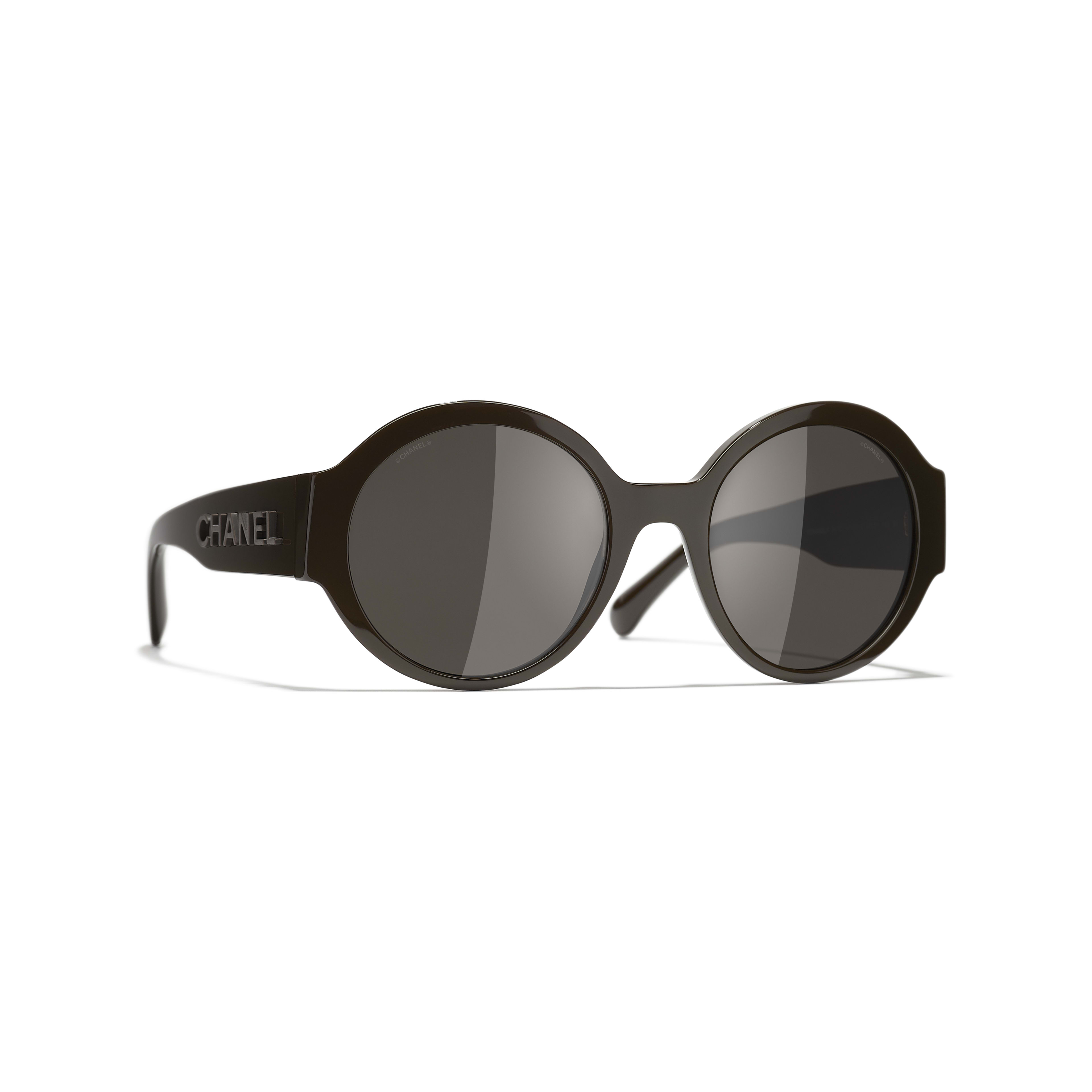Round Sunglasses - Brown - Acetate - CHANEL - Default view - see standard sized version