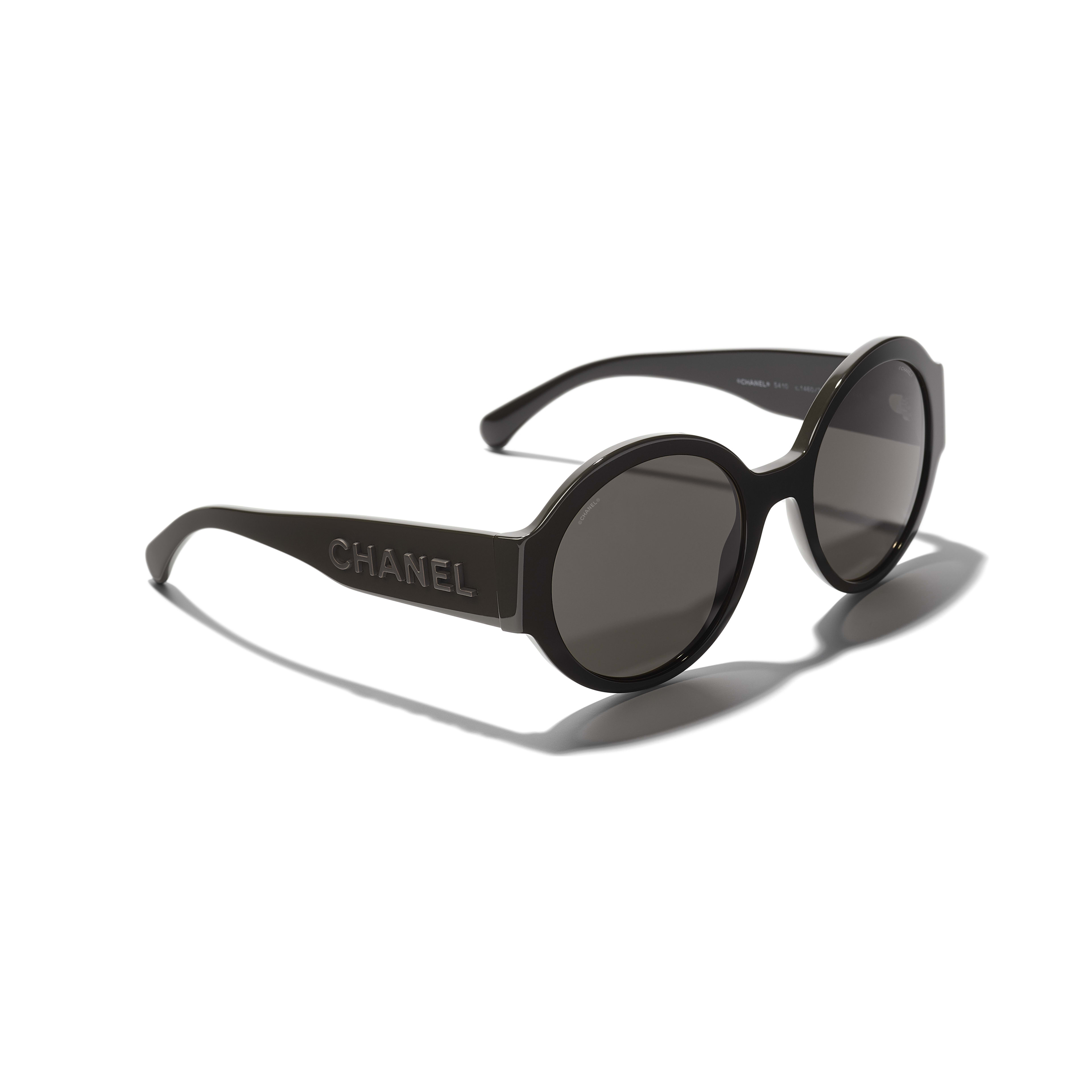 Round Sunglasses - Brown - Acetate - CHANEL - Extra view - see standard sized version