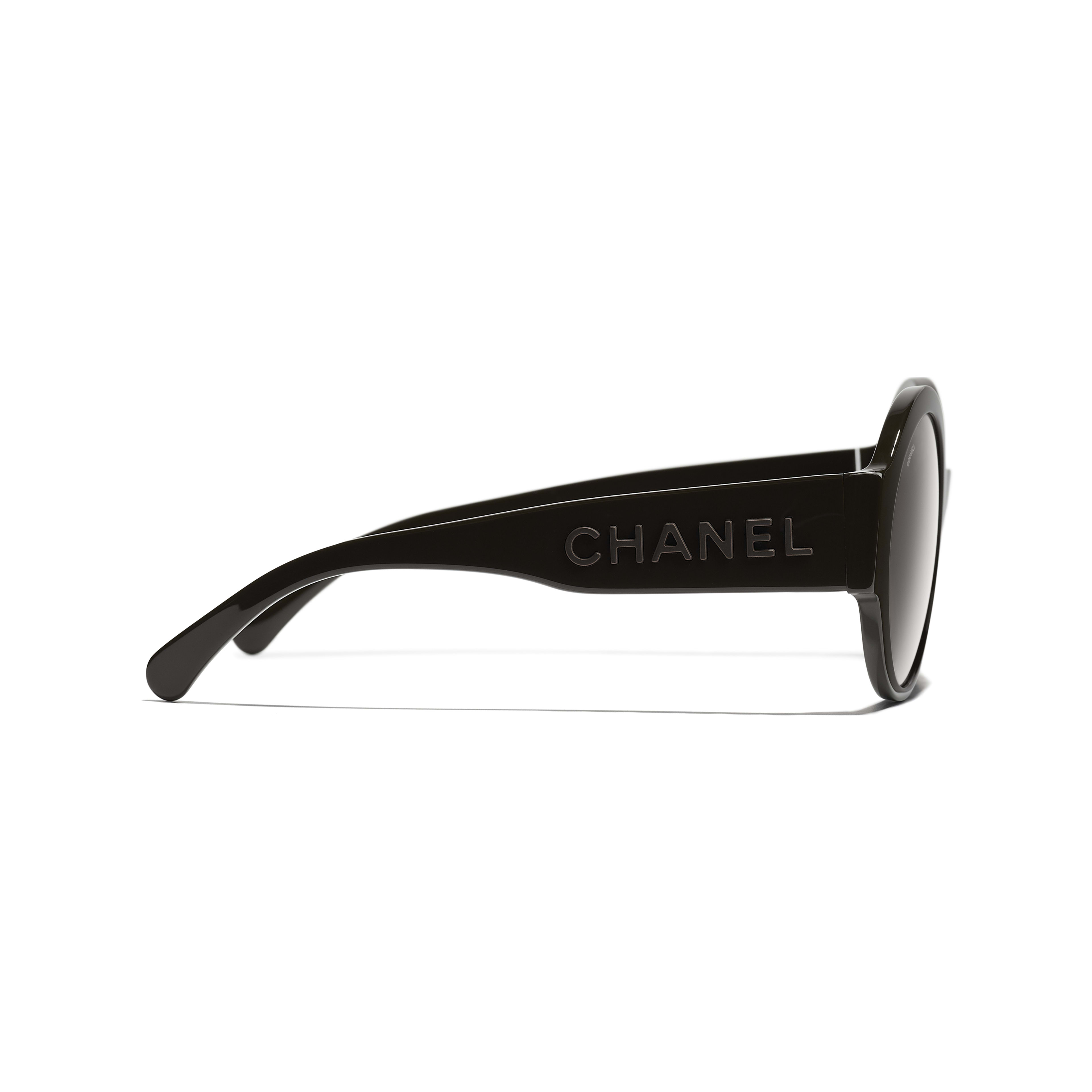 Round Sunglasses - Brown - Acetate - CHANEL - Other view - see standard sized version