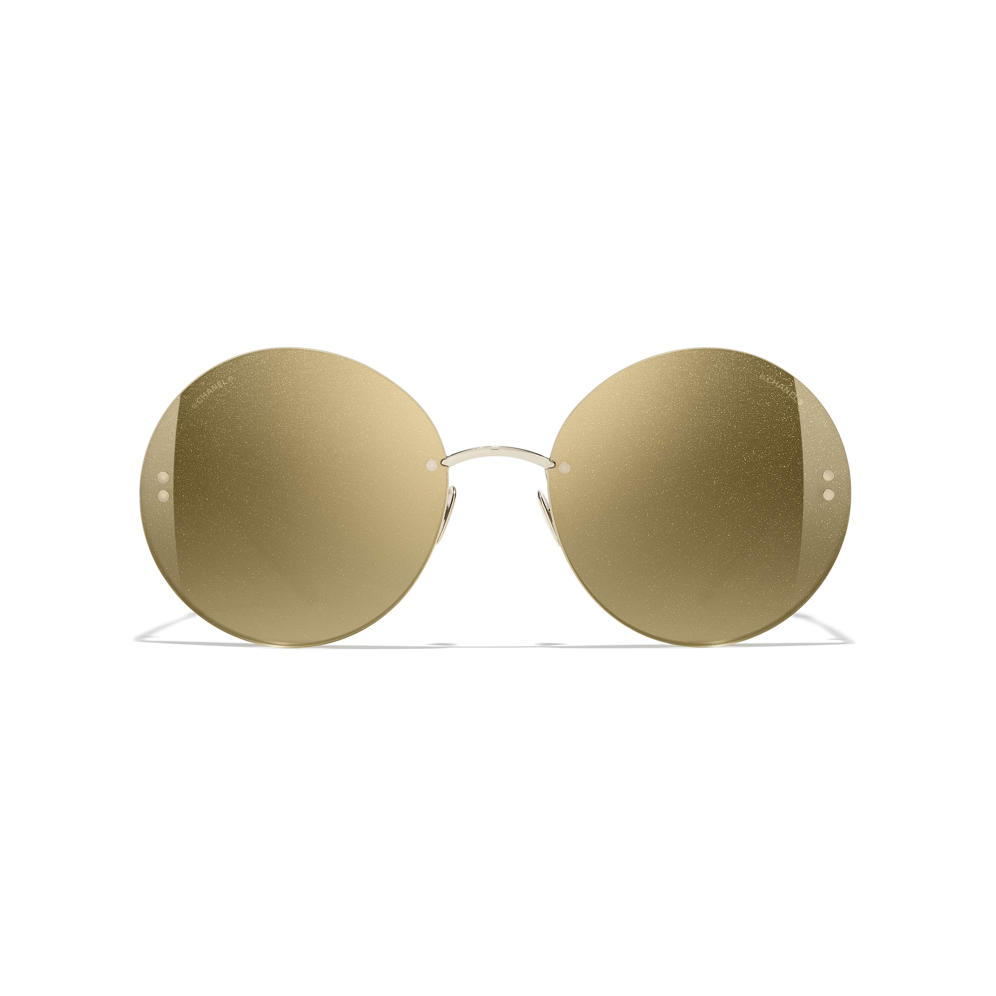 Round Sunglasses - Gold - Metal - Alternative view - see standard sized version