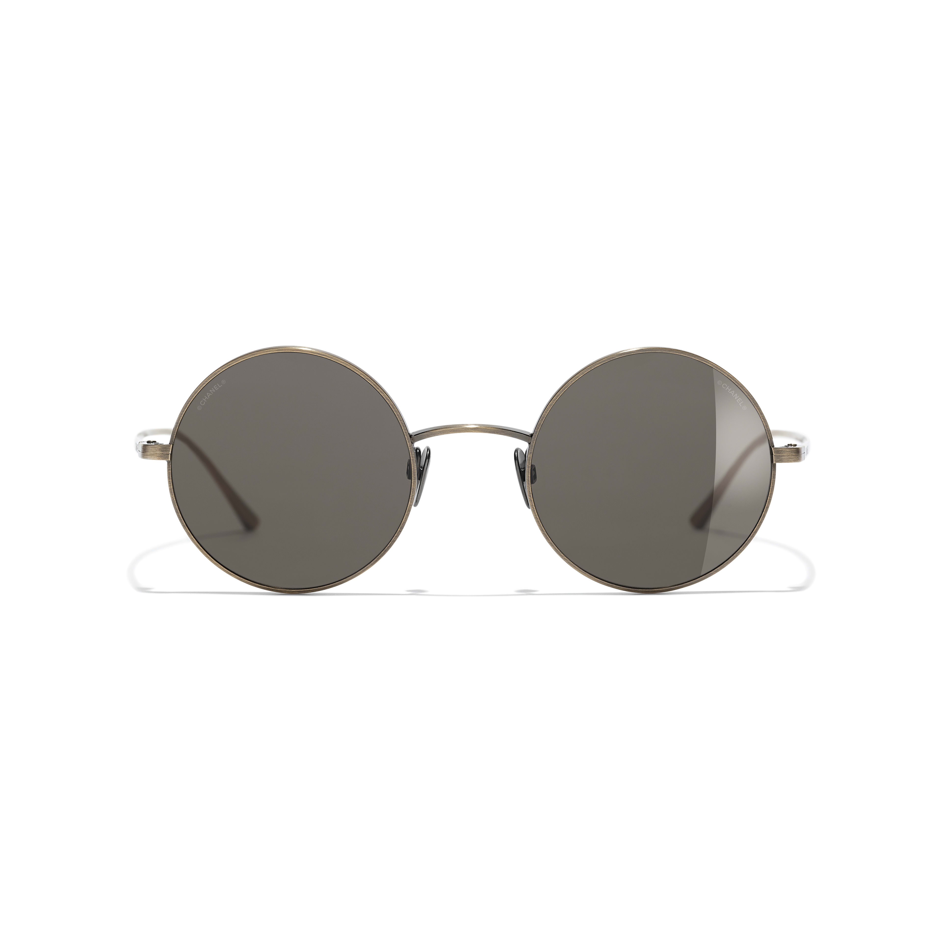 Round Sunglasses - Gold - Titanium - CHANEL - Alternative view - see standard sized version