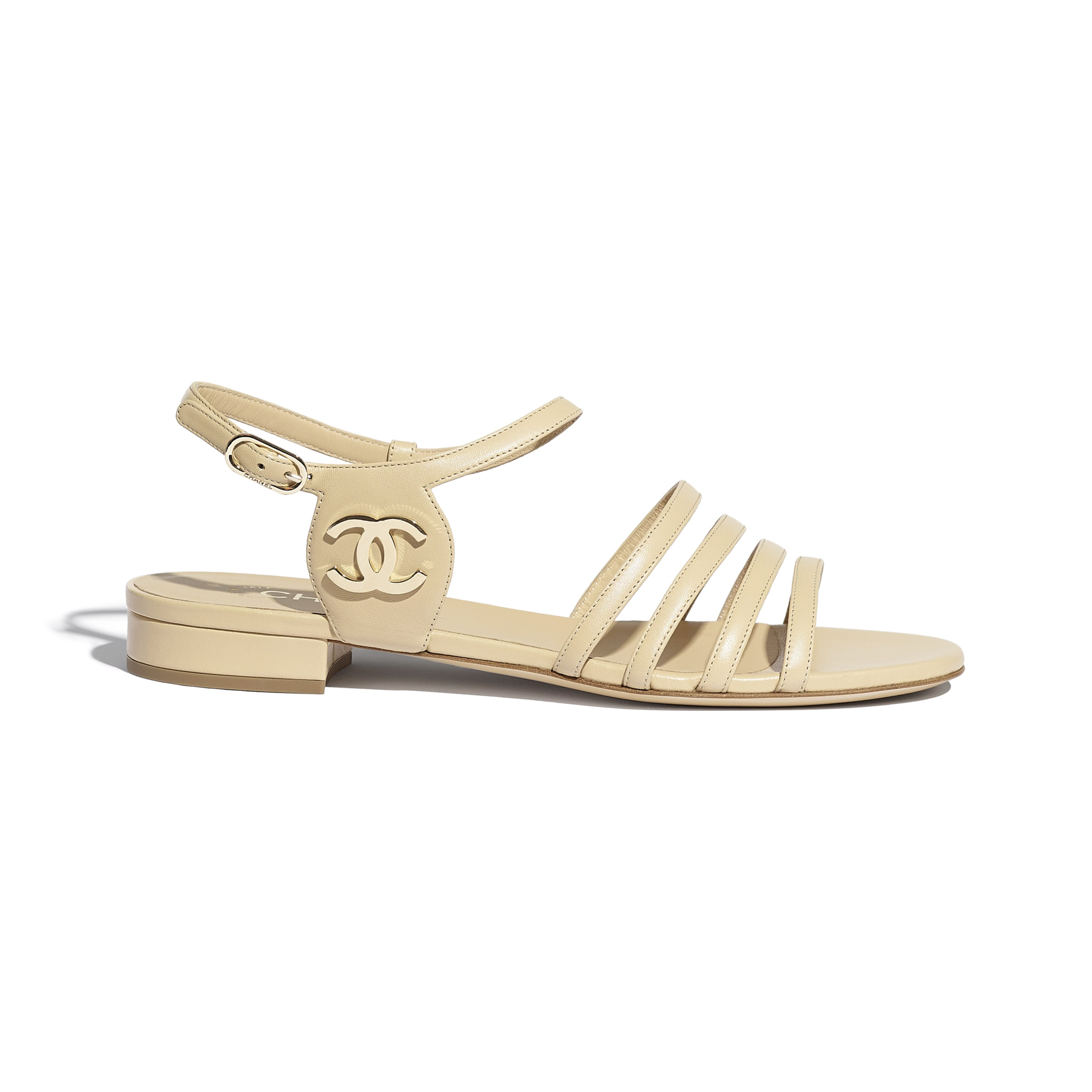Sandals - Beige - Lambskin - CHANEL - Default view - see standard sized version