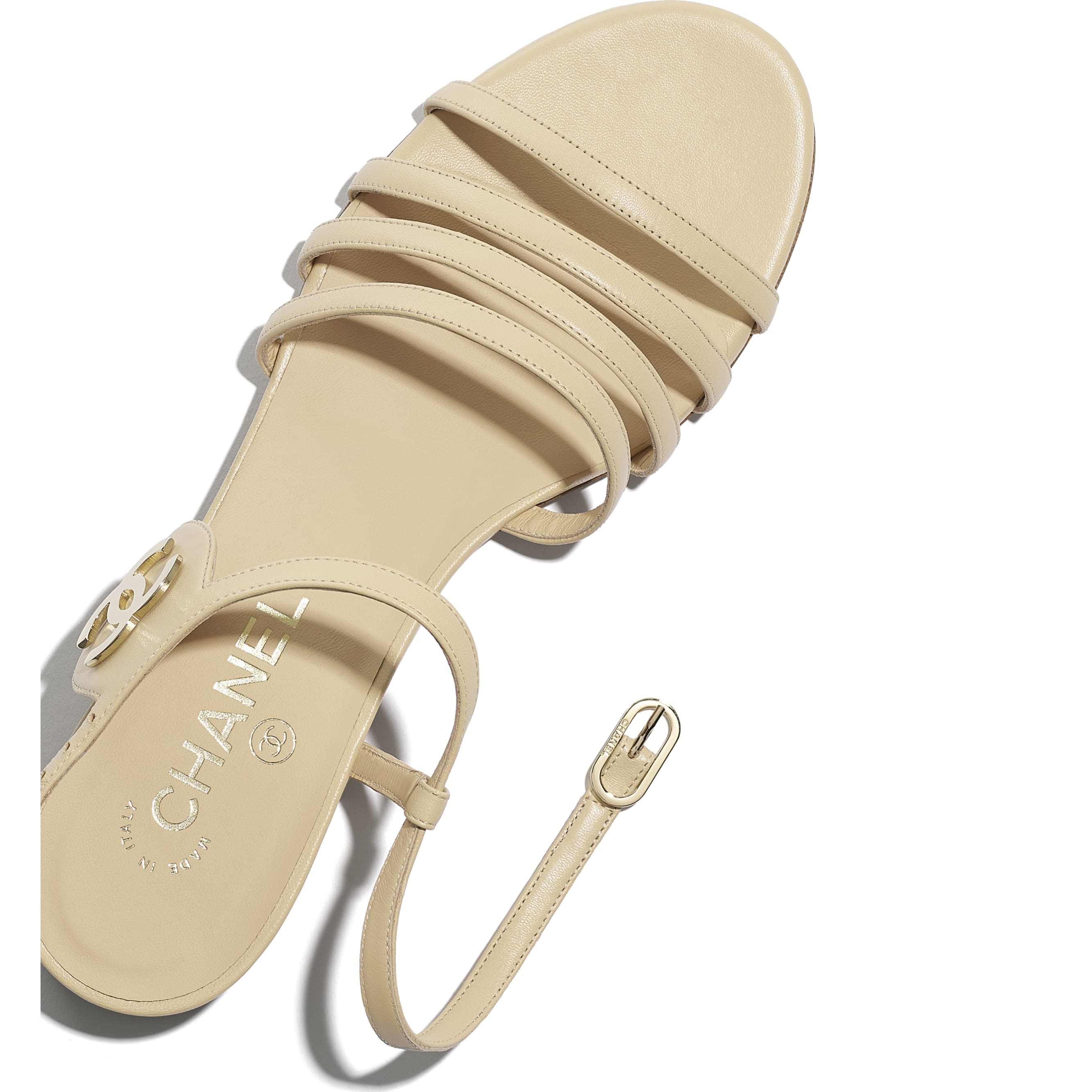 Sandals - Beige - Lambskin - CHANEL - Extra view - see standard sized version