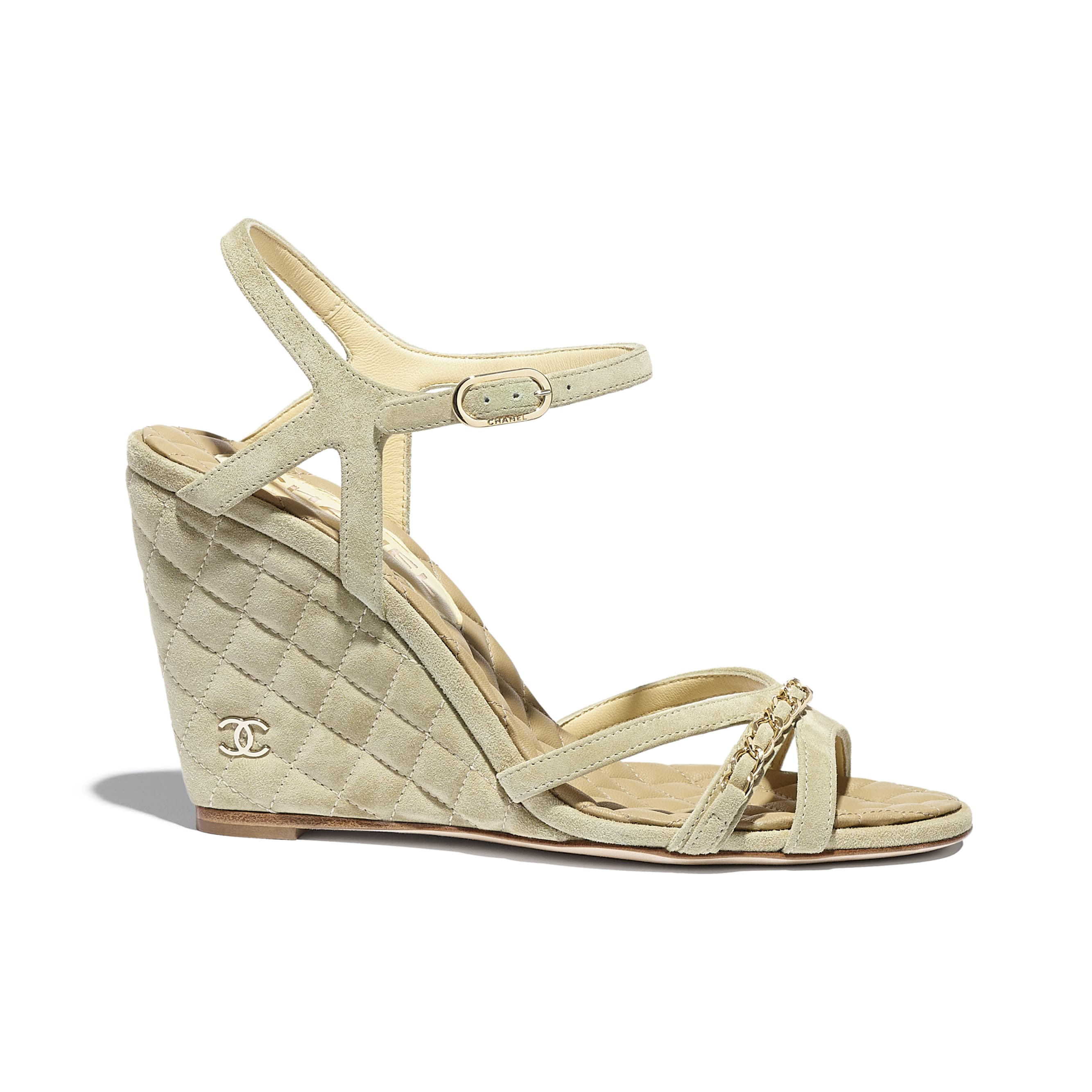 Sandals - Beige - Suede Calfskin - CHANEL - Default view - see standard sized version
