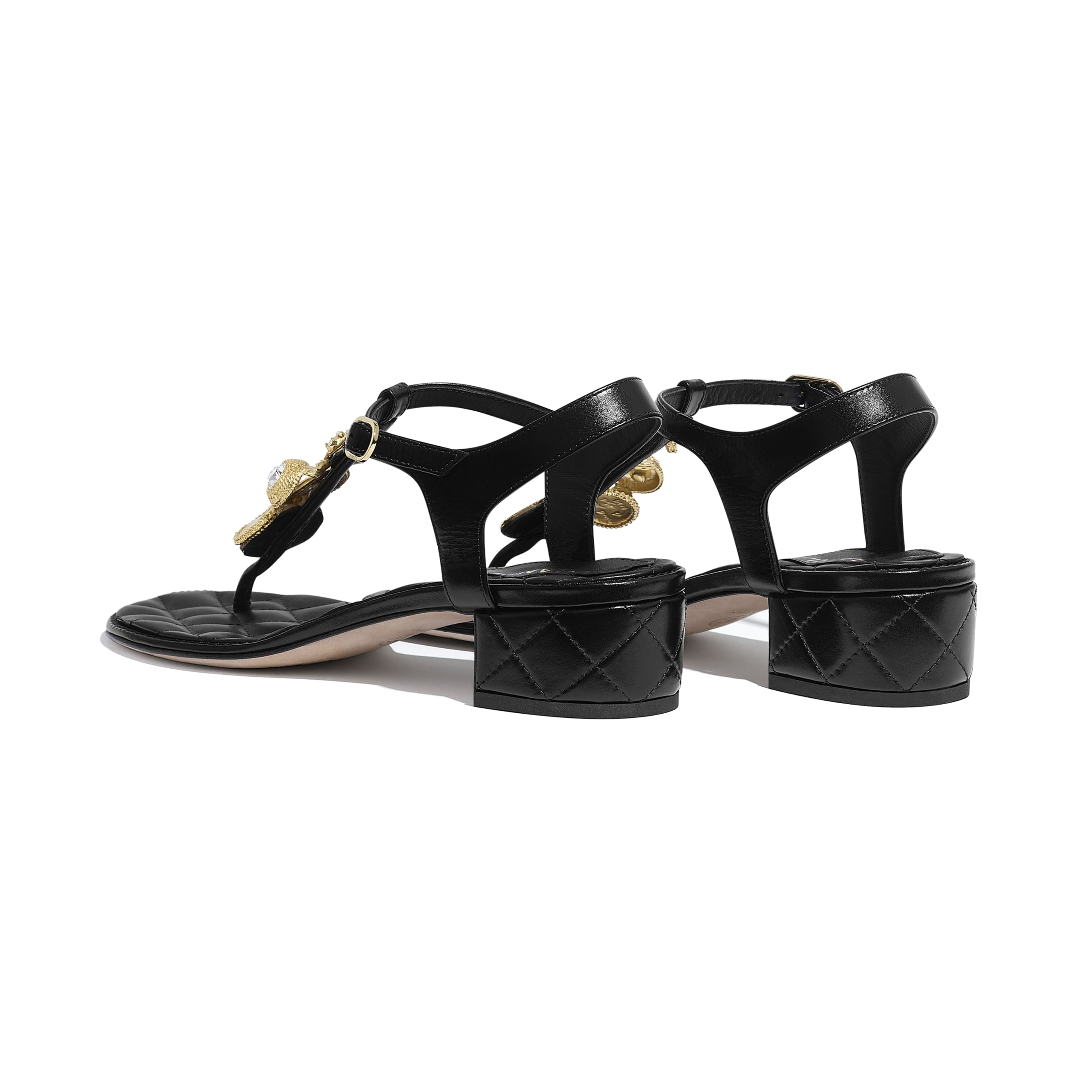 Sandals - Black - Calfskin - CHANEL - Other view - see standard sized version