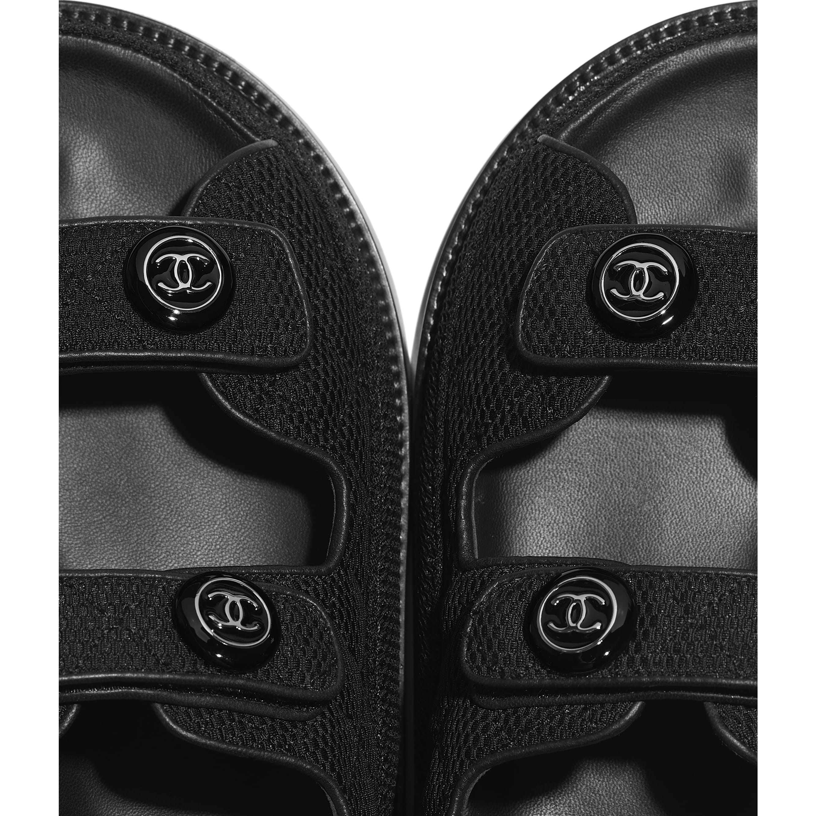 Sandals - Black - Fabric - CHANEL - Extra view - see standard sized version