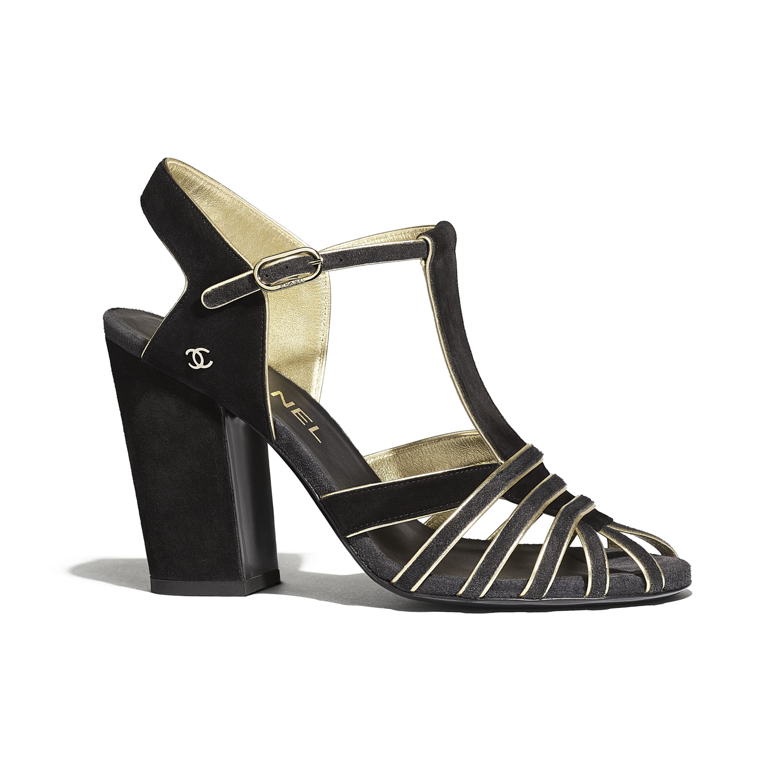 Sandals - Black & Gray - Suede Calfskin - Default view - see standard sized version
