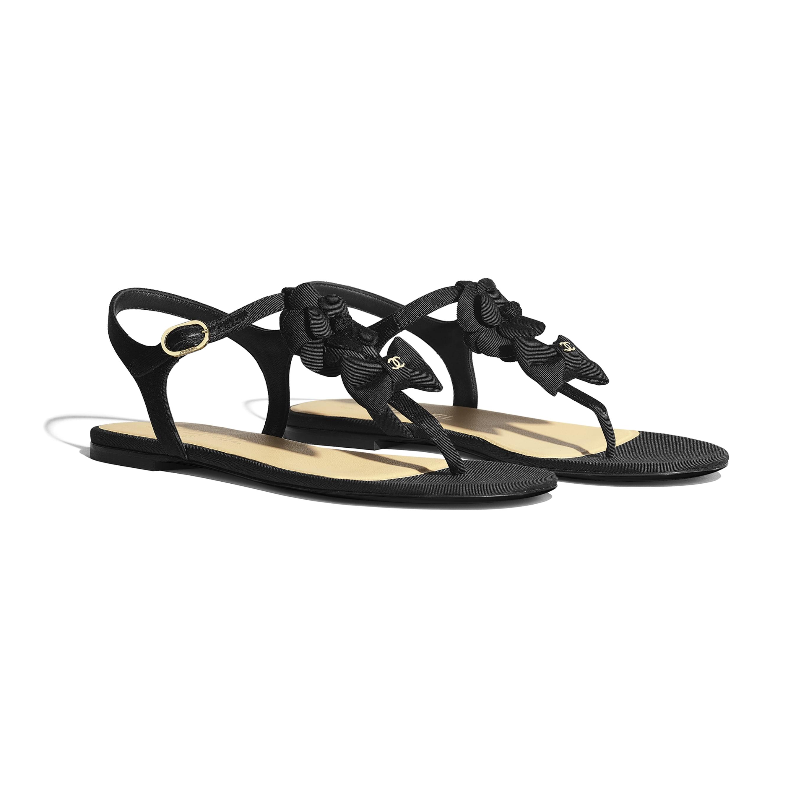 Sandals - Black - Grosgrain - CHANEL - Alternative view - see standard sized version