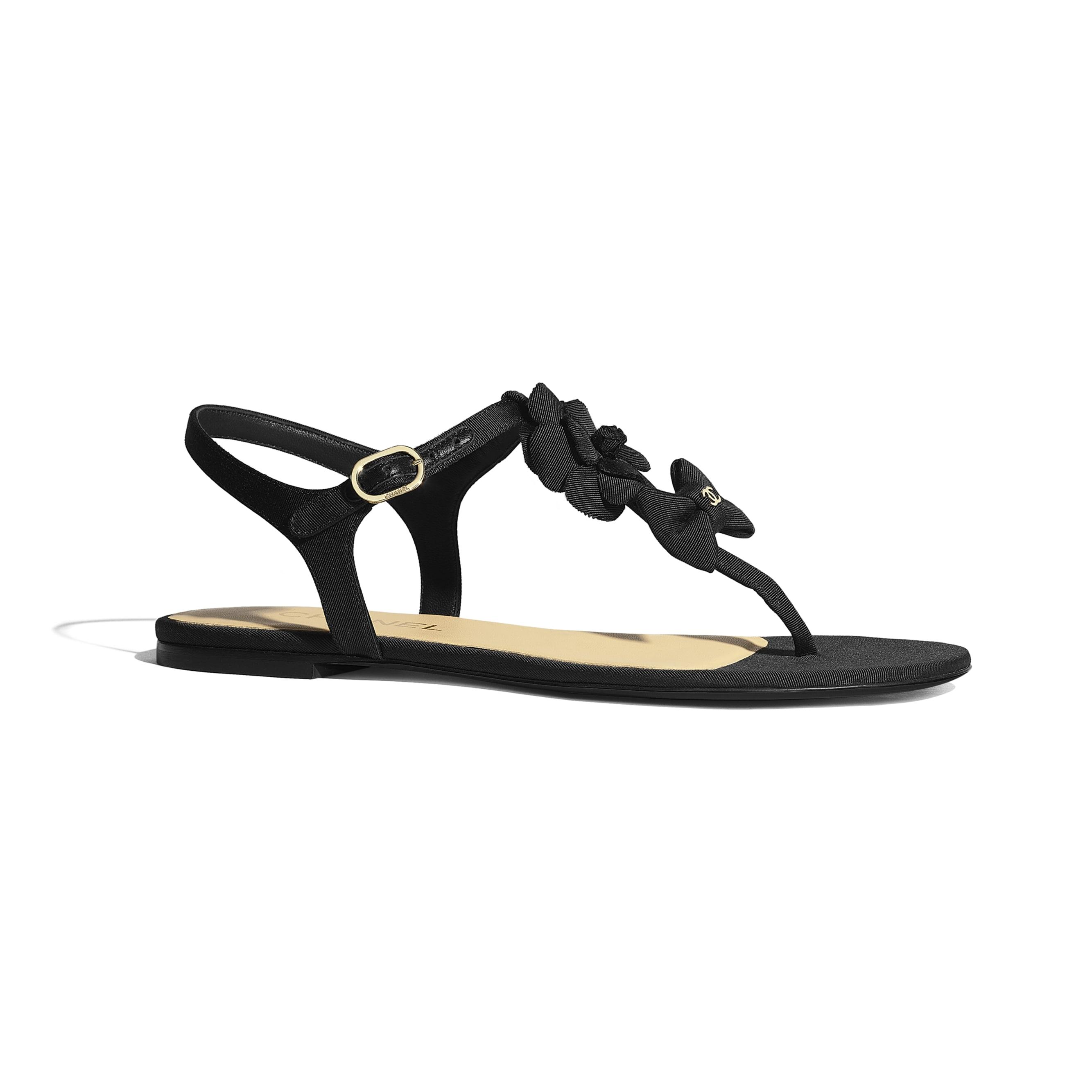 Sandals - Black - Grosgrain - Default view - see standard sized version