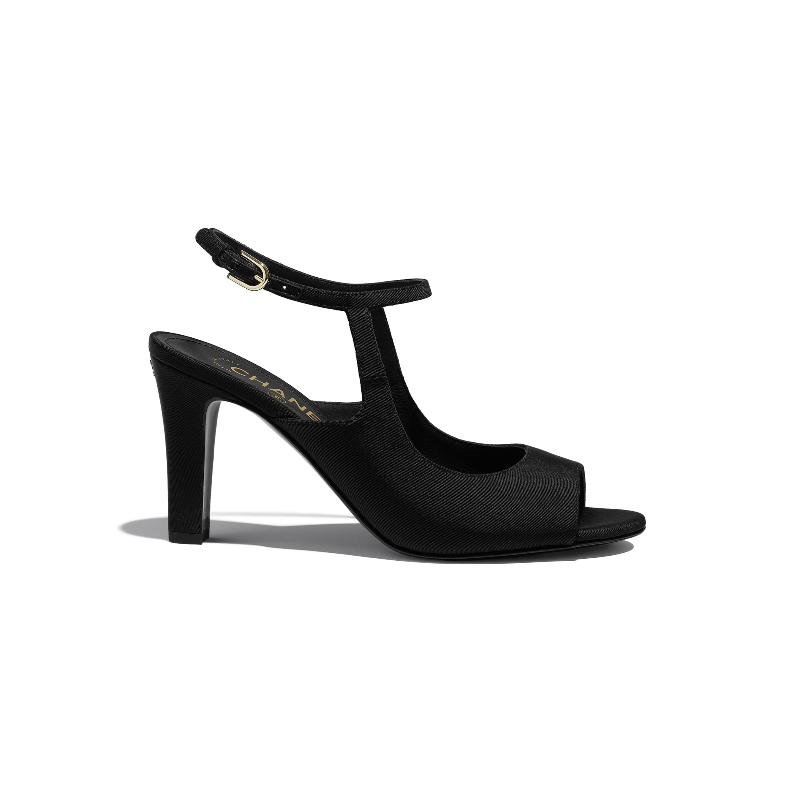 Sandals - Black - Grosgrain - CHANEL - Default view - see standard sized version