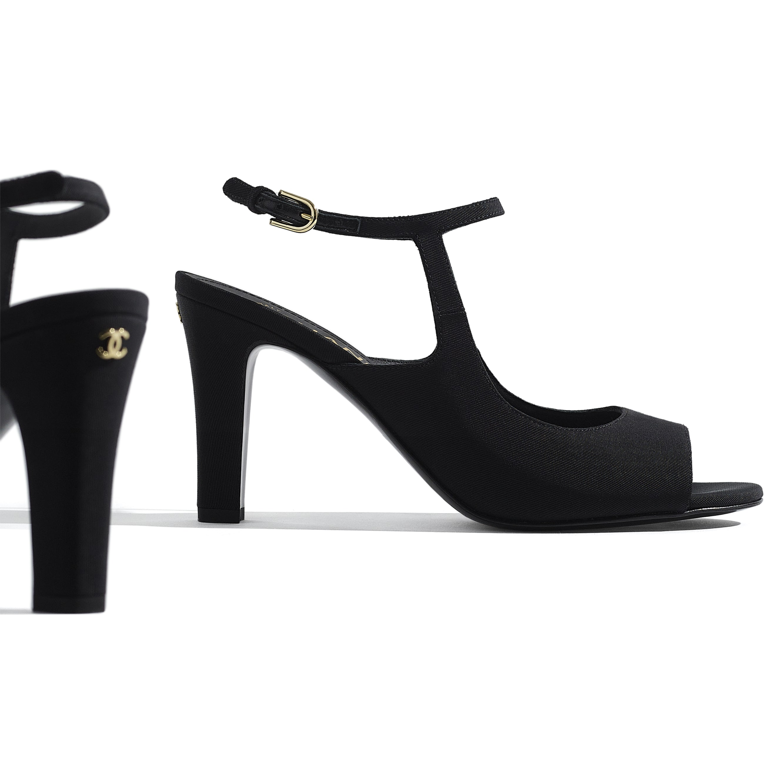 Sandals - Black - Grosgrain - CHANEL - Extra view - see standard sized version