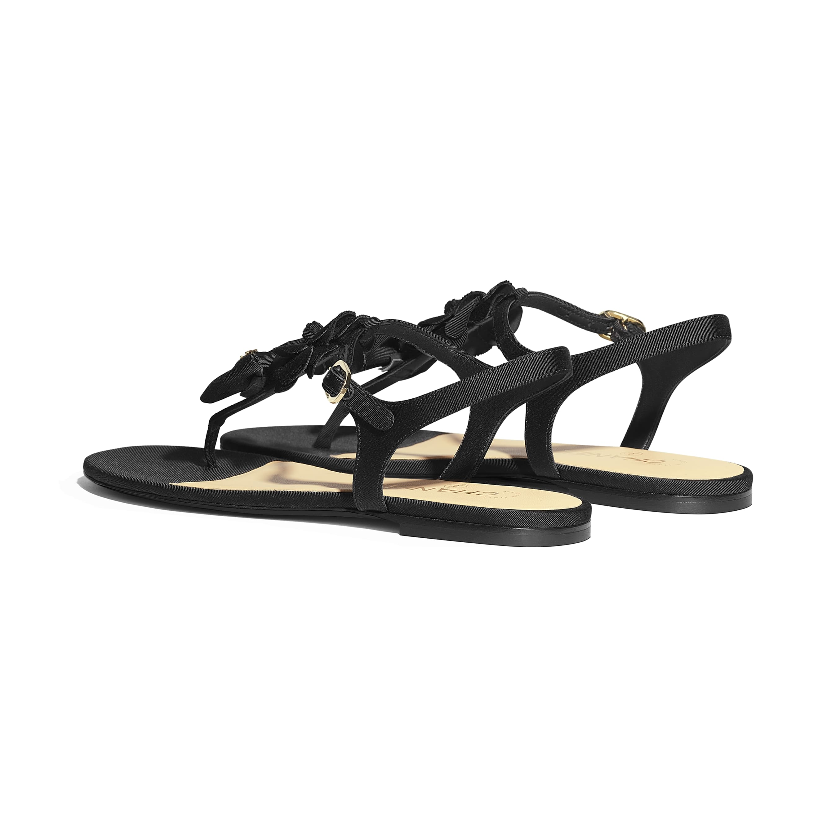 Sandals - Black - Grosgrain - Other view - see standard sized version