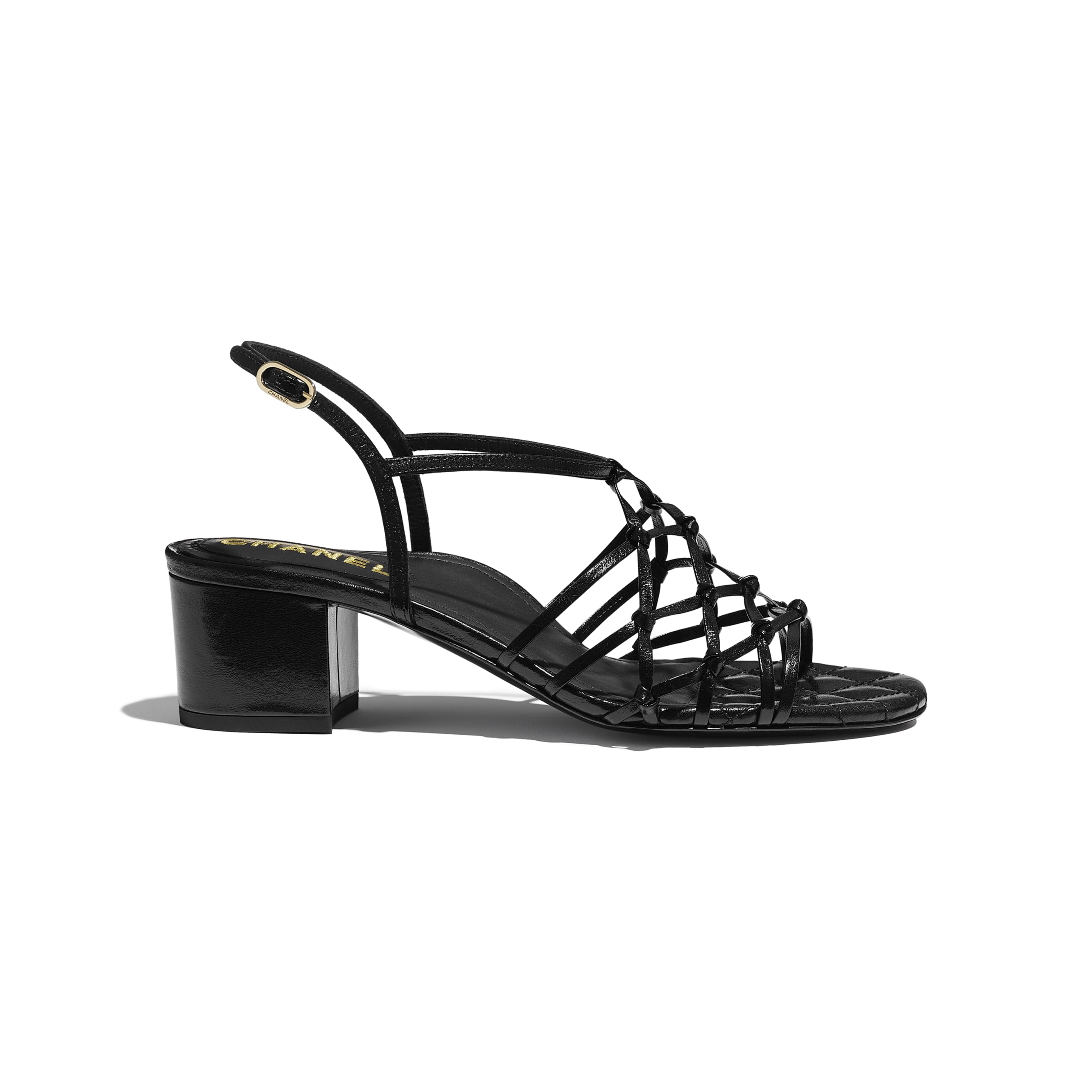 Sandals - Black - Iridescent Calfskin - CHANEL - Default view - see standard sized version