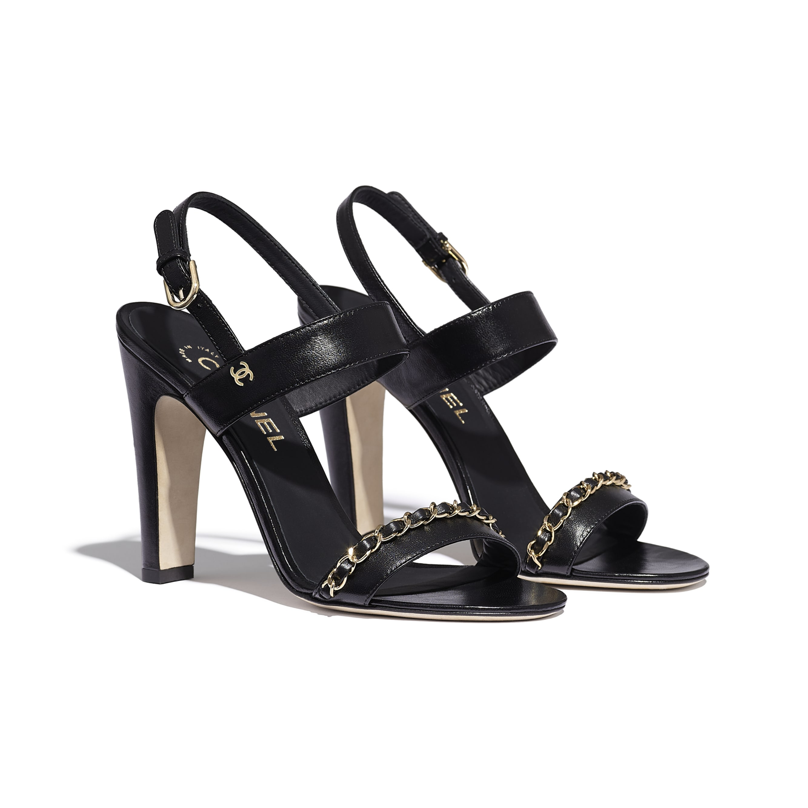 Sandals - Black - Lambskin - Alternative view - see standard sized version