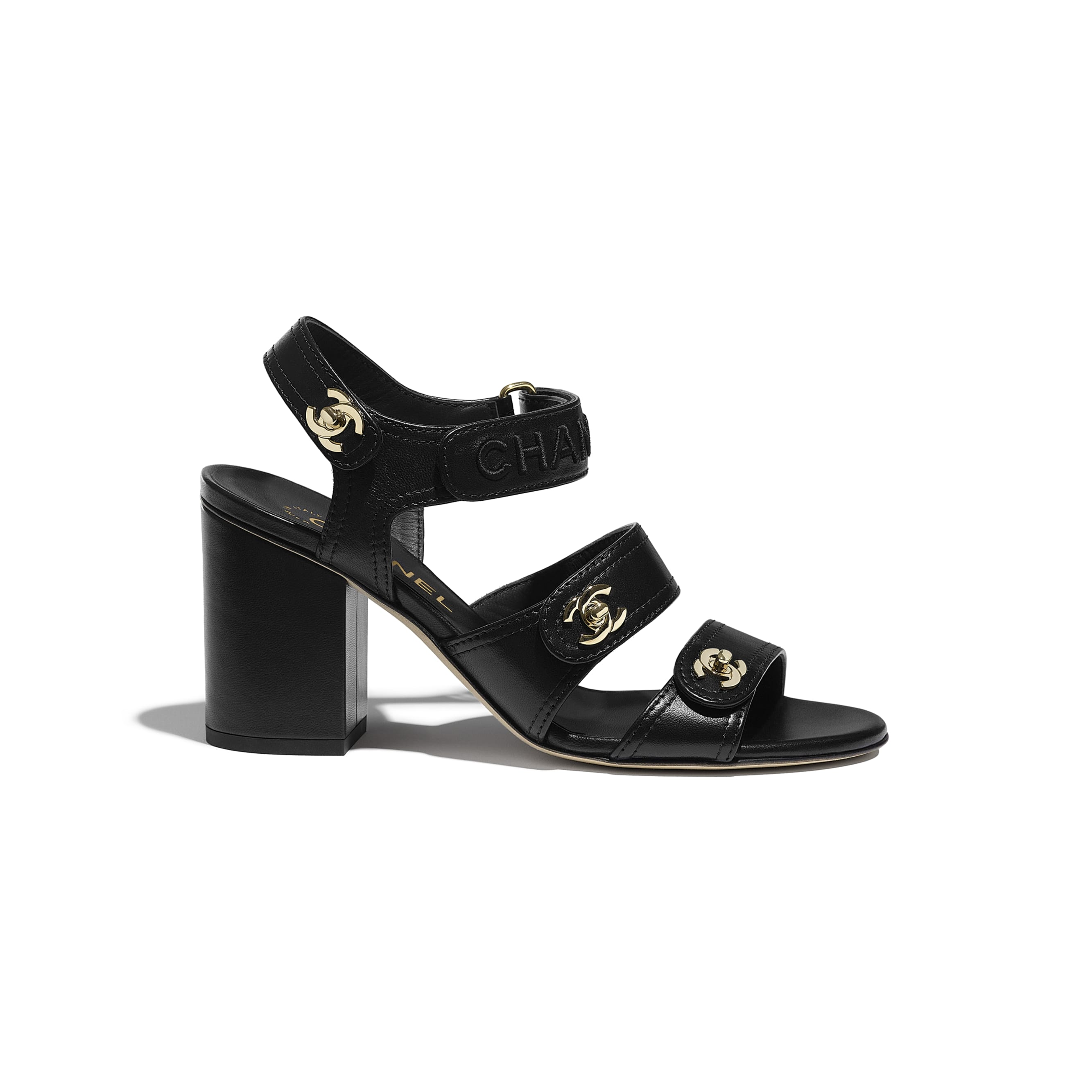 Sandals - Black - Lambskin - CHANEL - Default view - see standard sized version