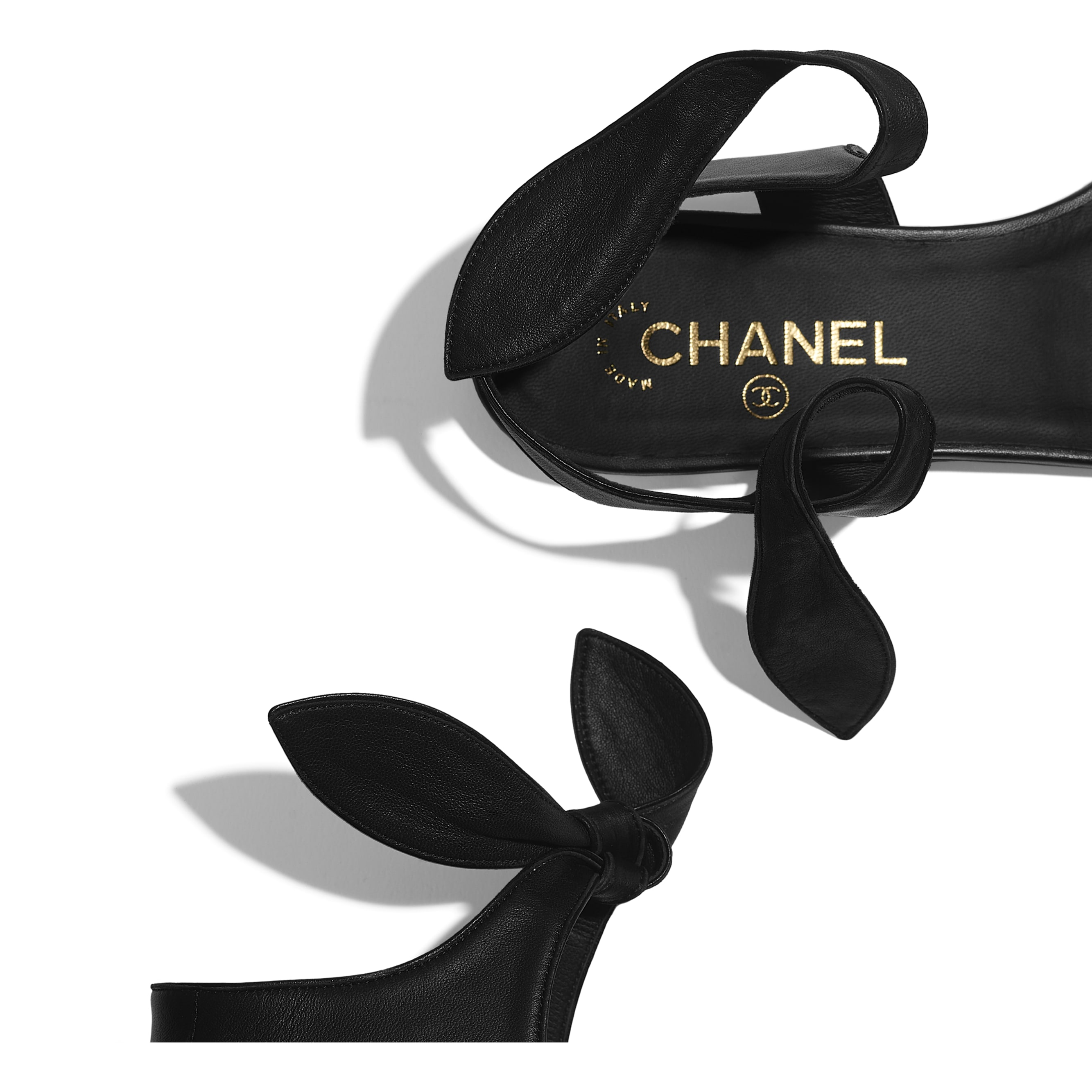 Sandals - Black - Lambskin - Extra view - see standard sized version