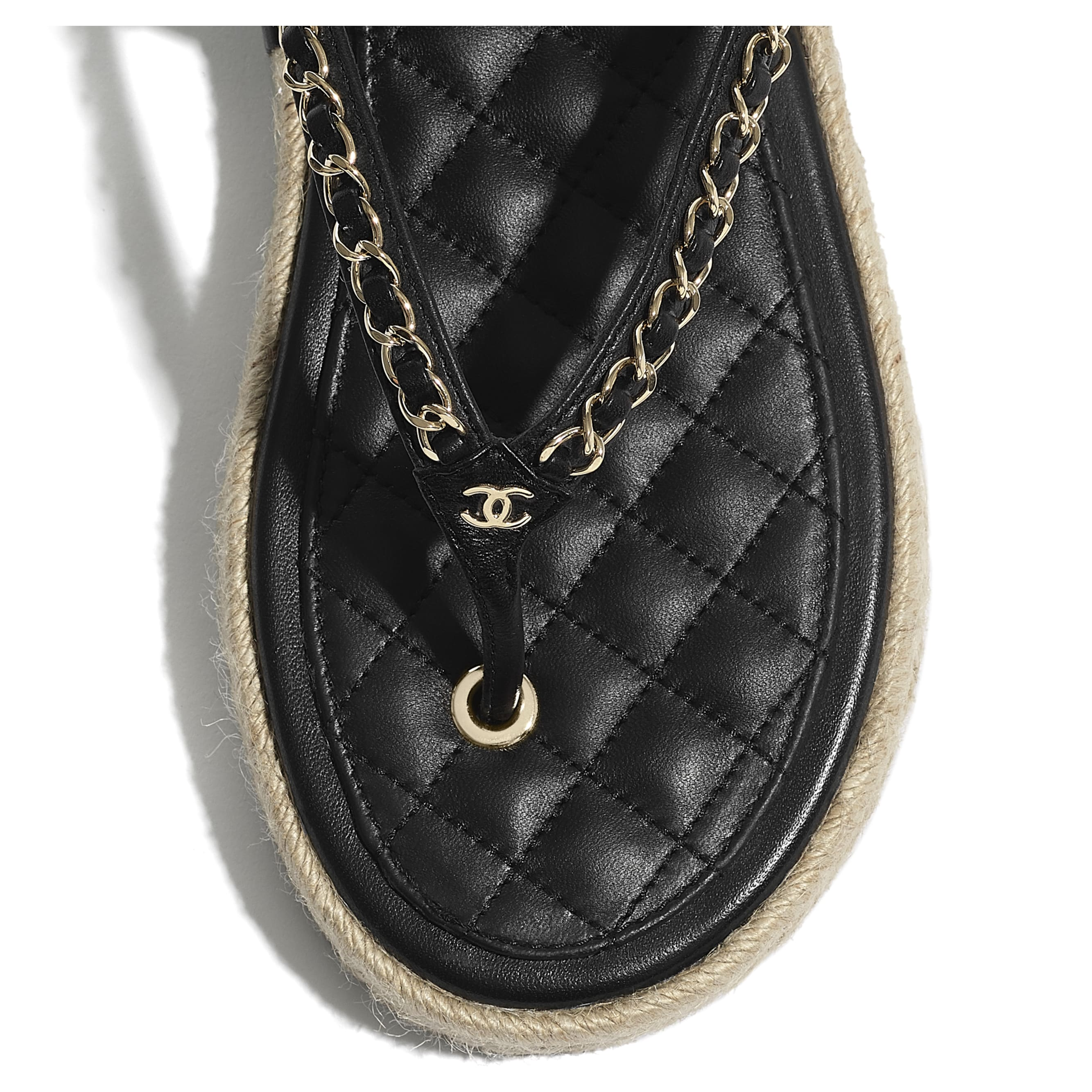 Sandals - Black - Lambskin - CHANEL - Extra view - see standard sized version