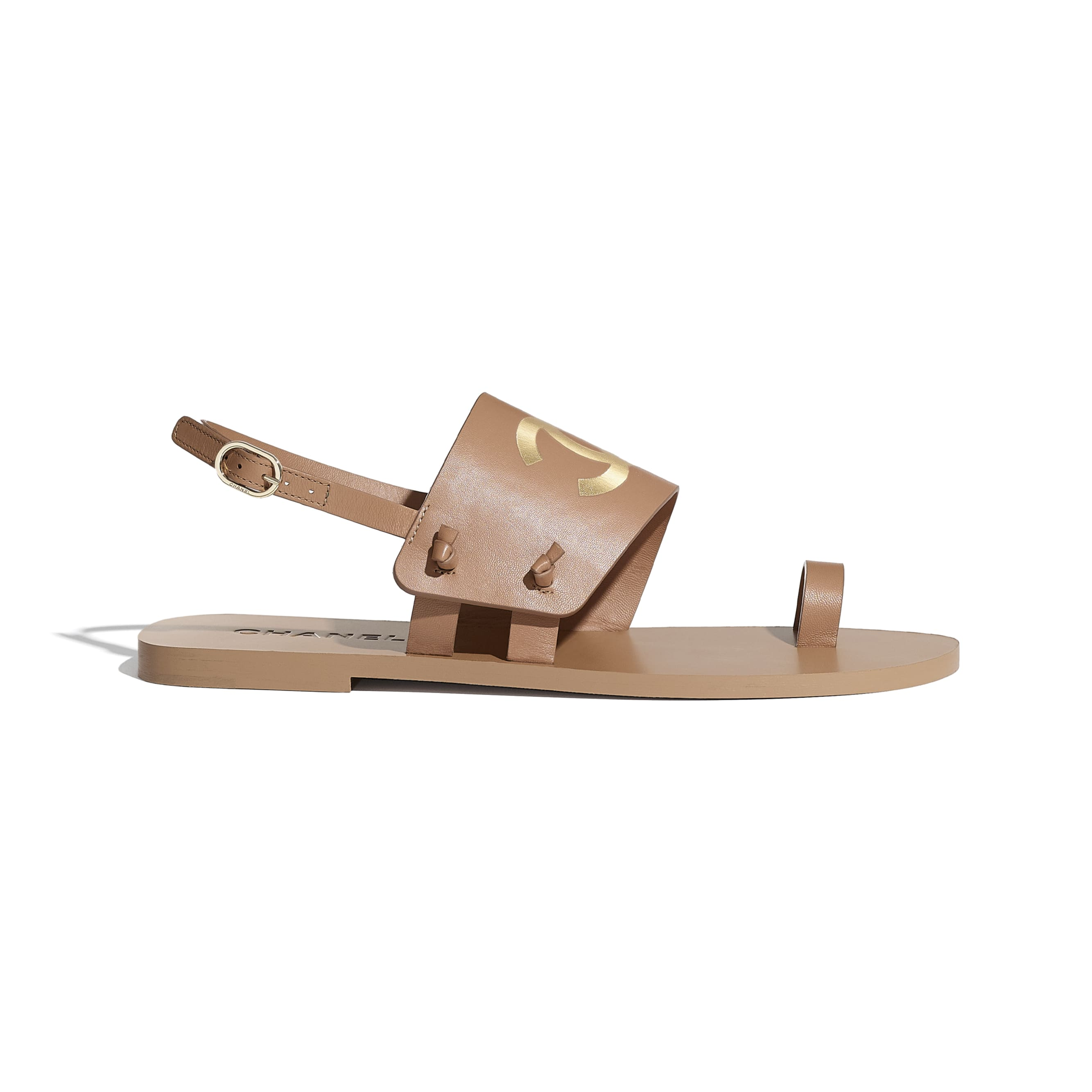 Sandals - Brown - Goatskin - CHANEL - Default view - see standard sized version