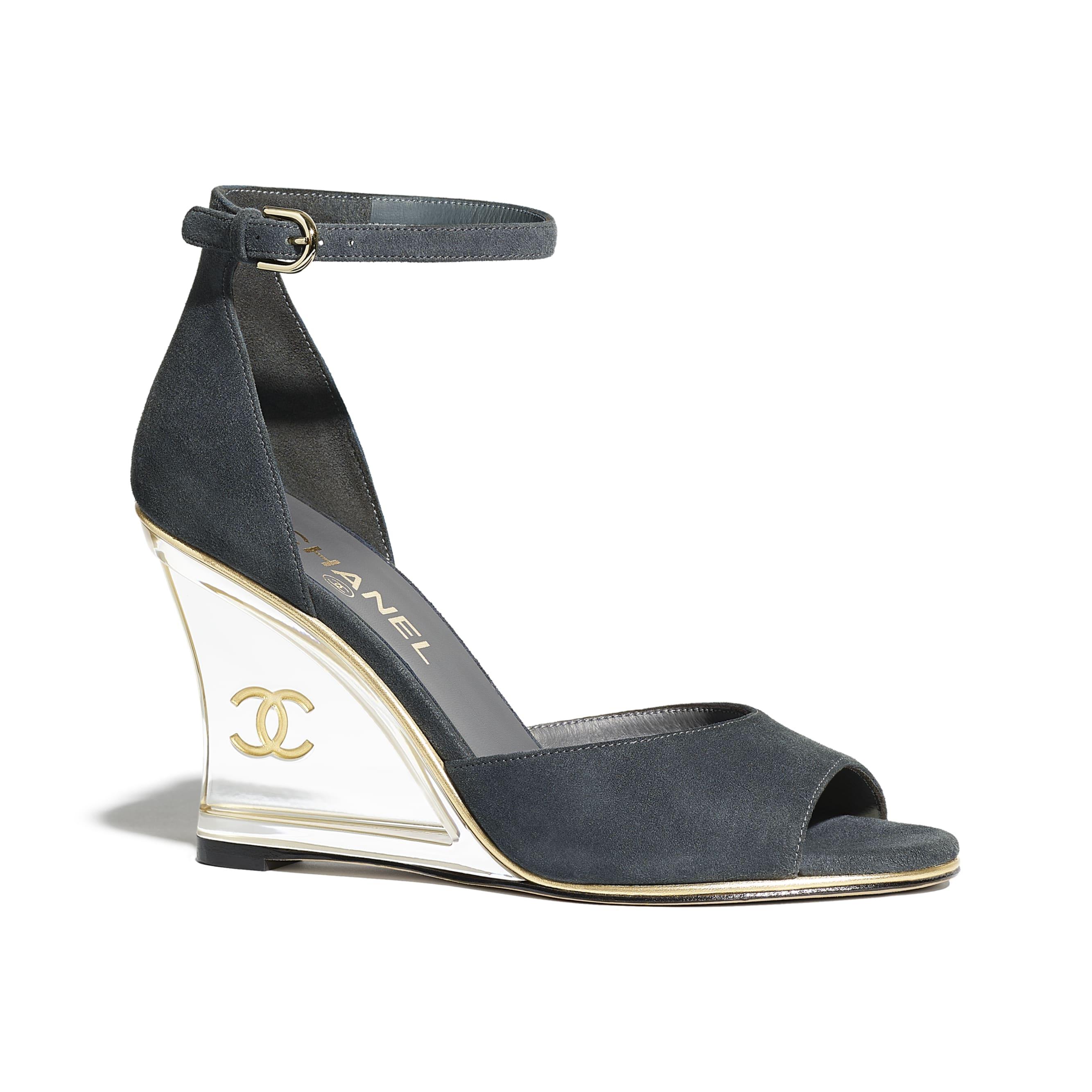 Sandals - Dark Grey - Suede Kidskin - Default view - see standard sized version