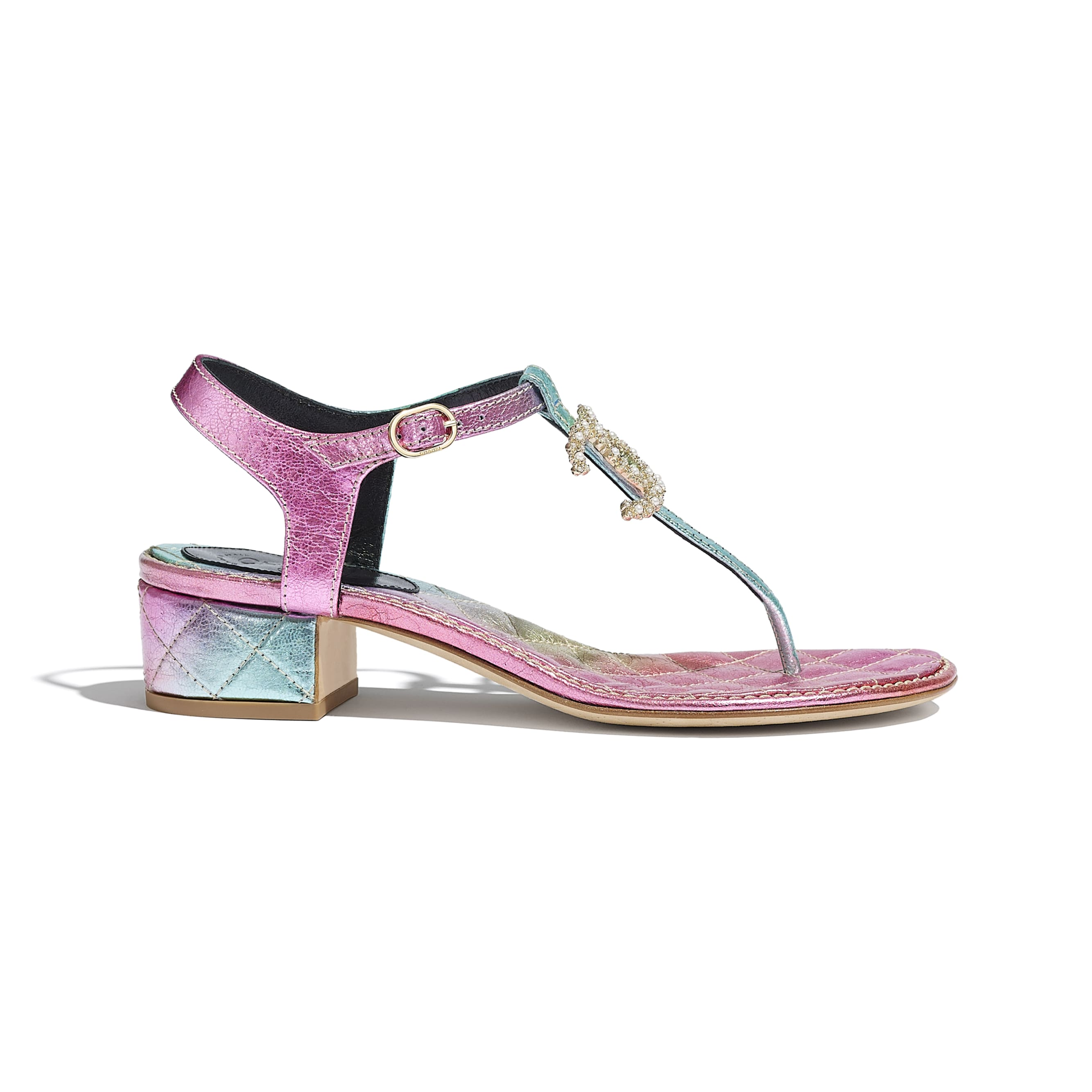 Sandals - Multicolour - Laminated Calfskin - CHANEL - Default view - see standard sized version