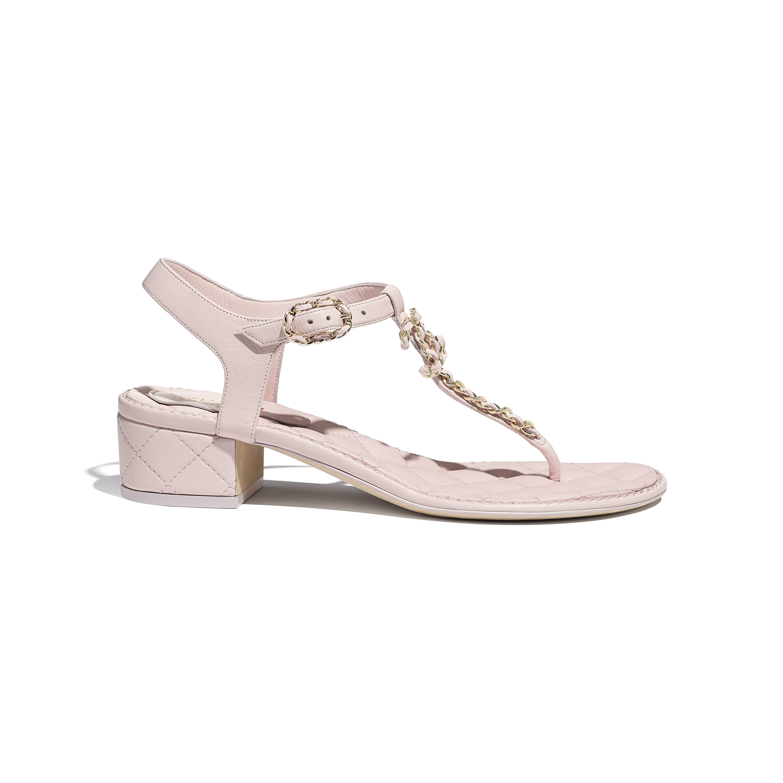 Sandals - Pink - Lambskin - CHANEL - Default view - see standard sized version