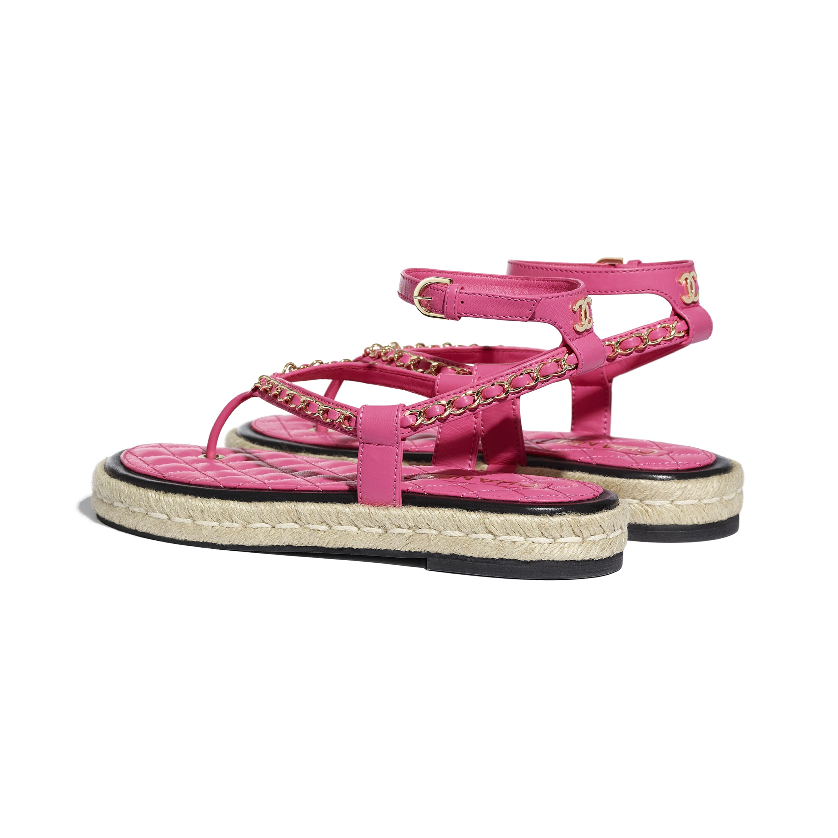 Sandals - Pink - Lambskin - CHANEL - Other view - see standard sized version
