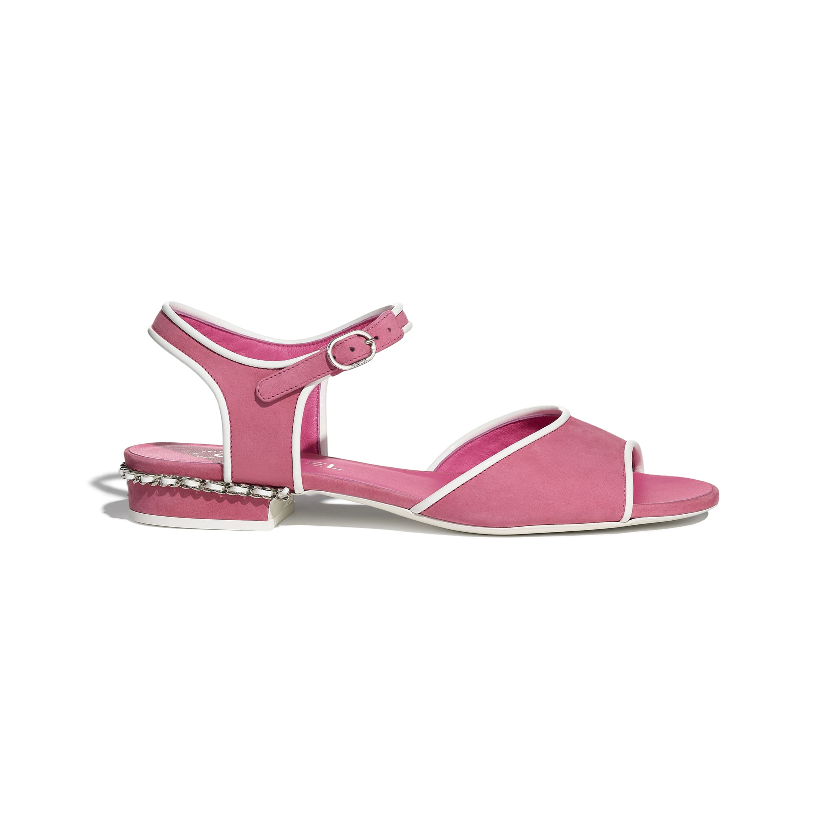 Sandals - Pink - Matte Velvet Calfskin - CHANEL - Default view - see standard sized version
