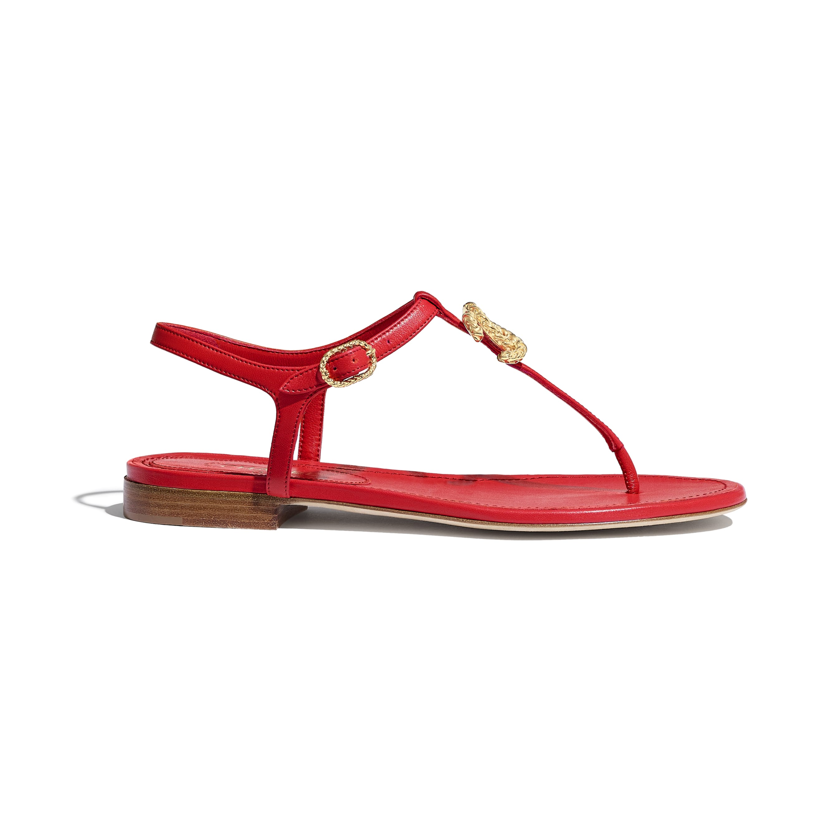 Sandals - Red - Lambskin - Default view - see standard sized version
