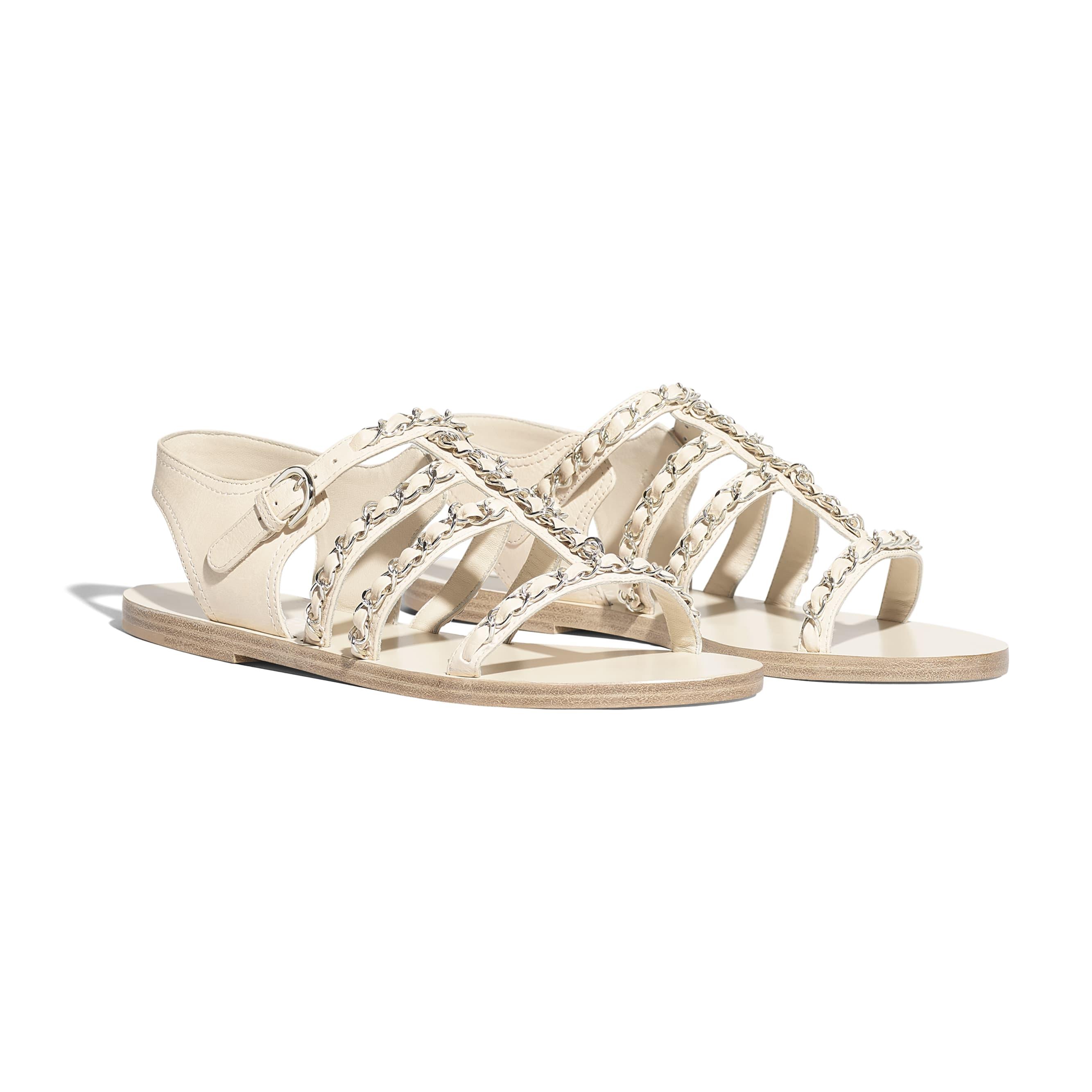 Sandals - White - Calfskin - Alternative view - see standard sized version
