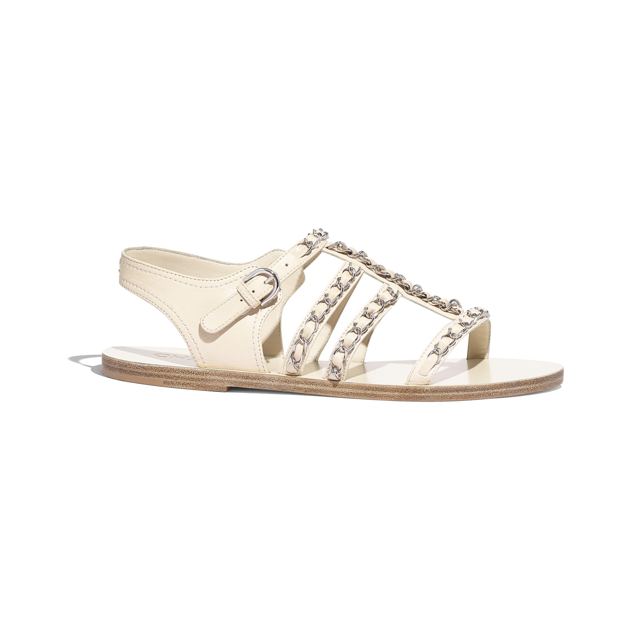 Sandals - White - Calfskin - Default view - see standard sized version