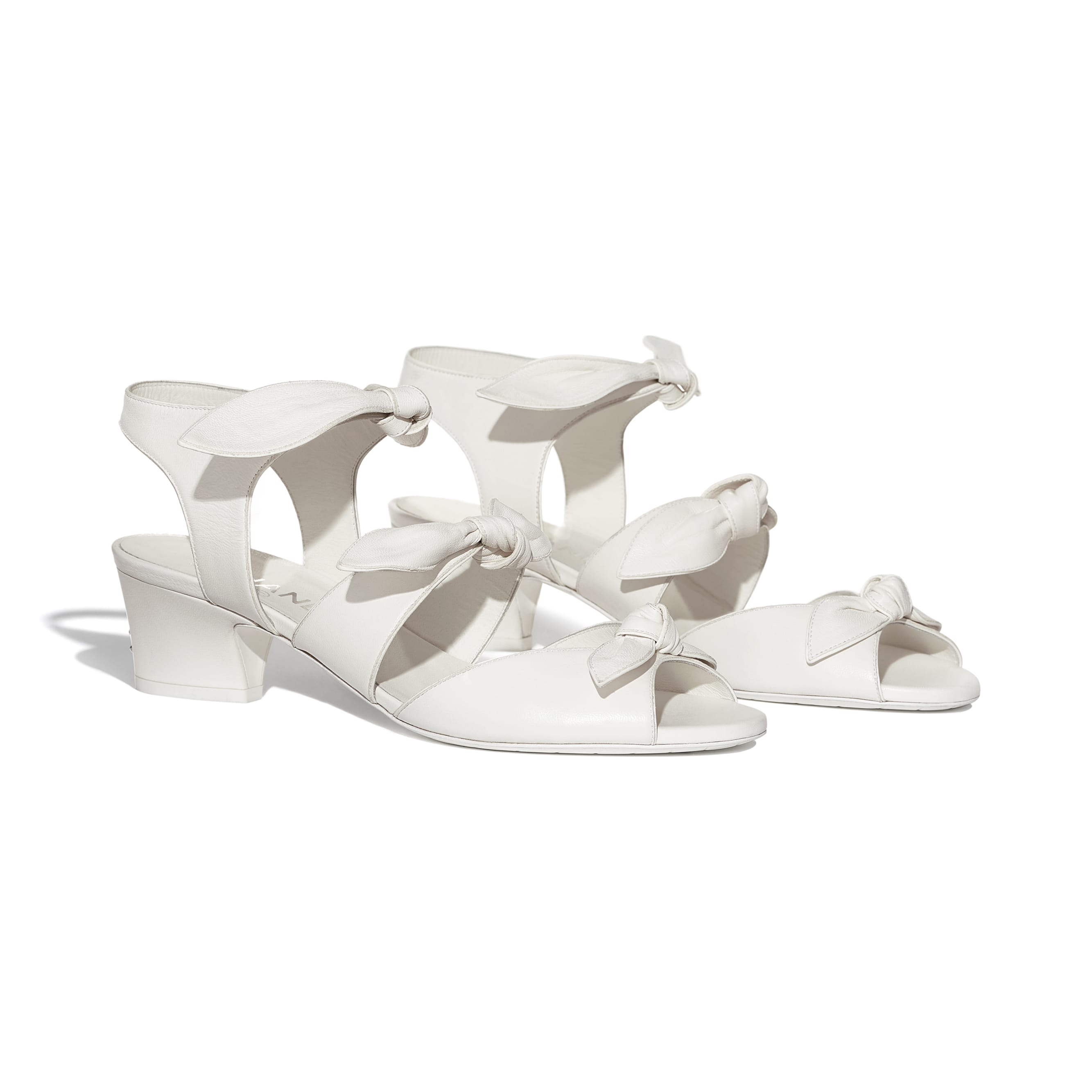 Sandals - White - Lambskin - Alternative view - see standard sized version