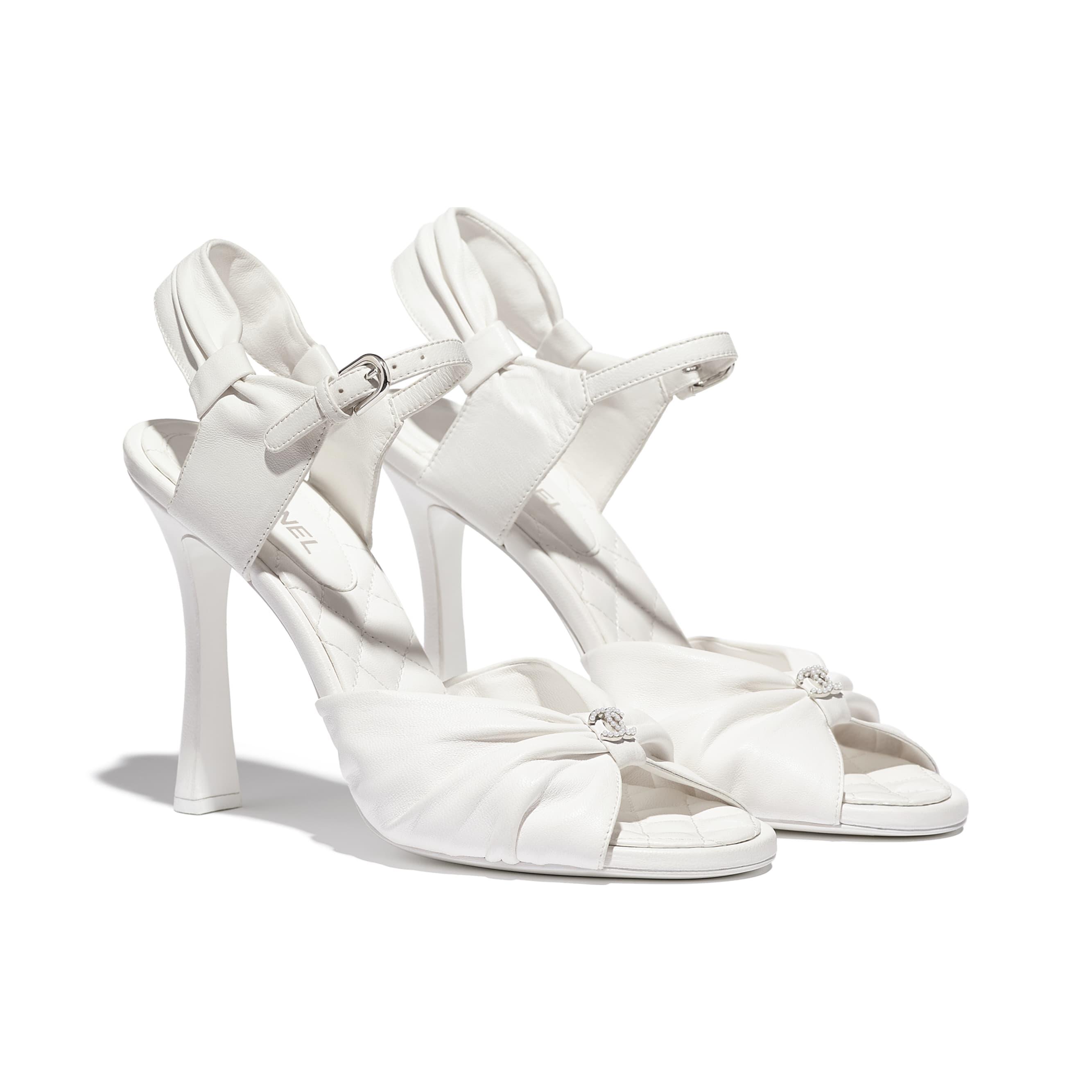 Sandals - White - Lambskin - CHANEL - Alternative view - see standard sized version