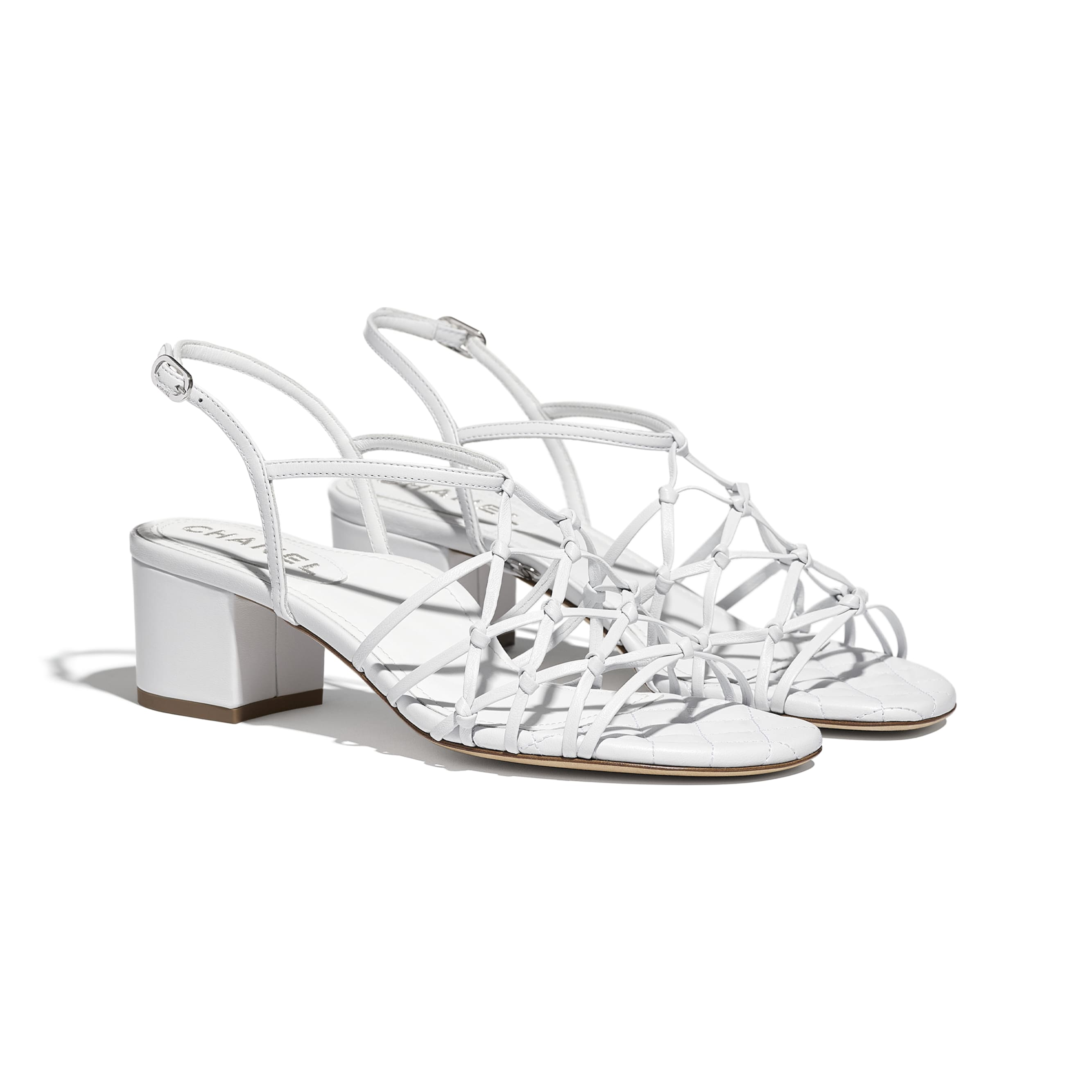 Sandals - White - Lambskin - CHANEL - Alternative view - see standard sized version