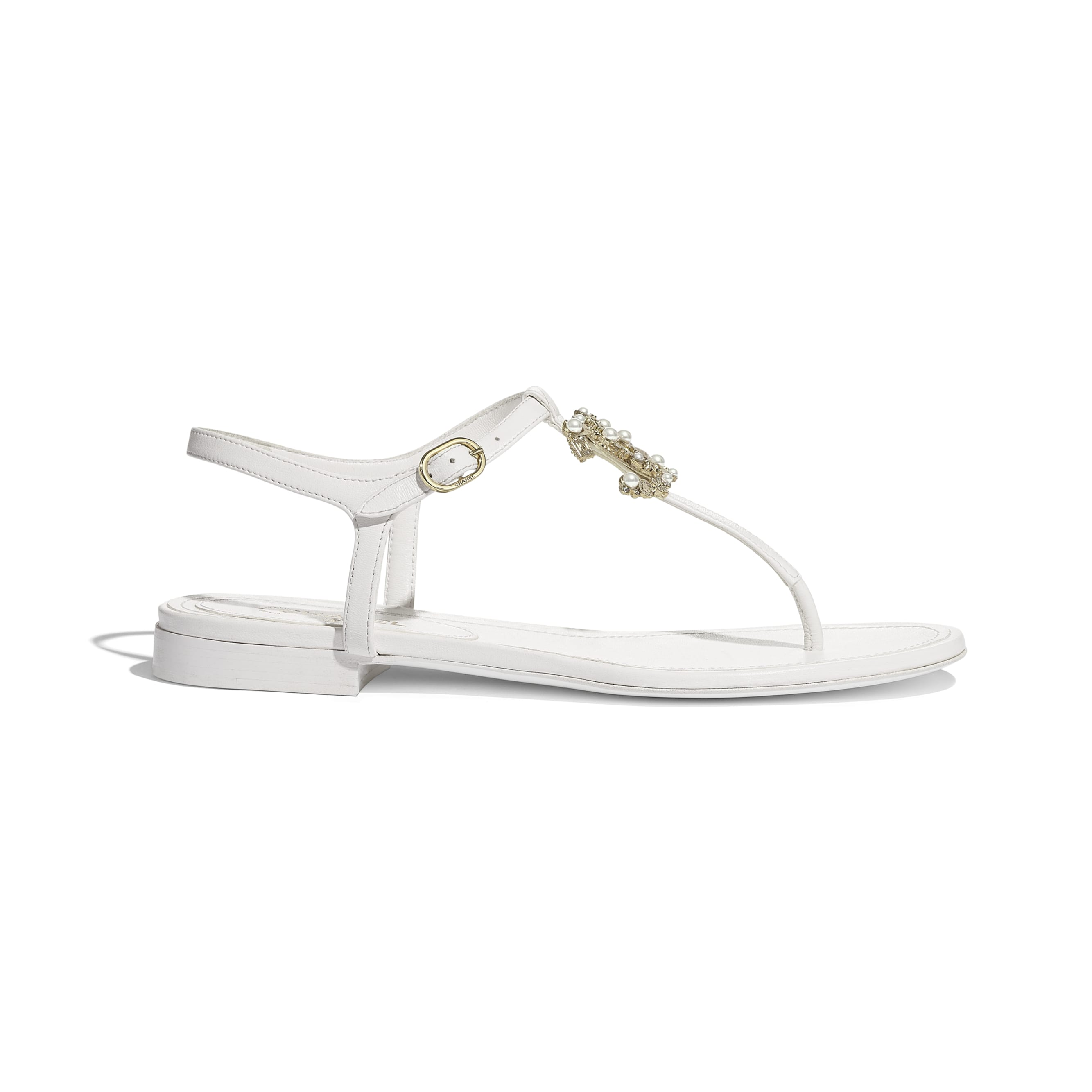 Sandals - White - Lambskin - Default view - see standard sized version