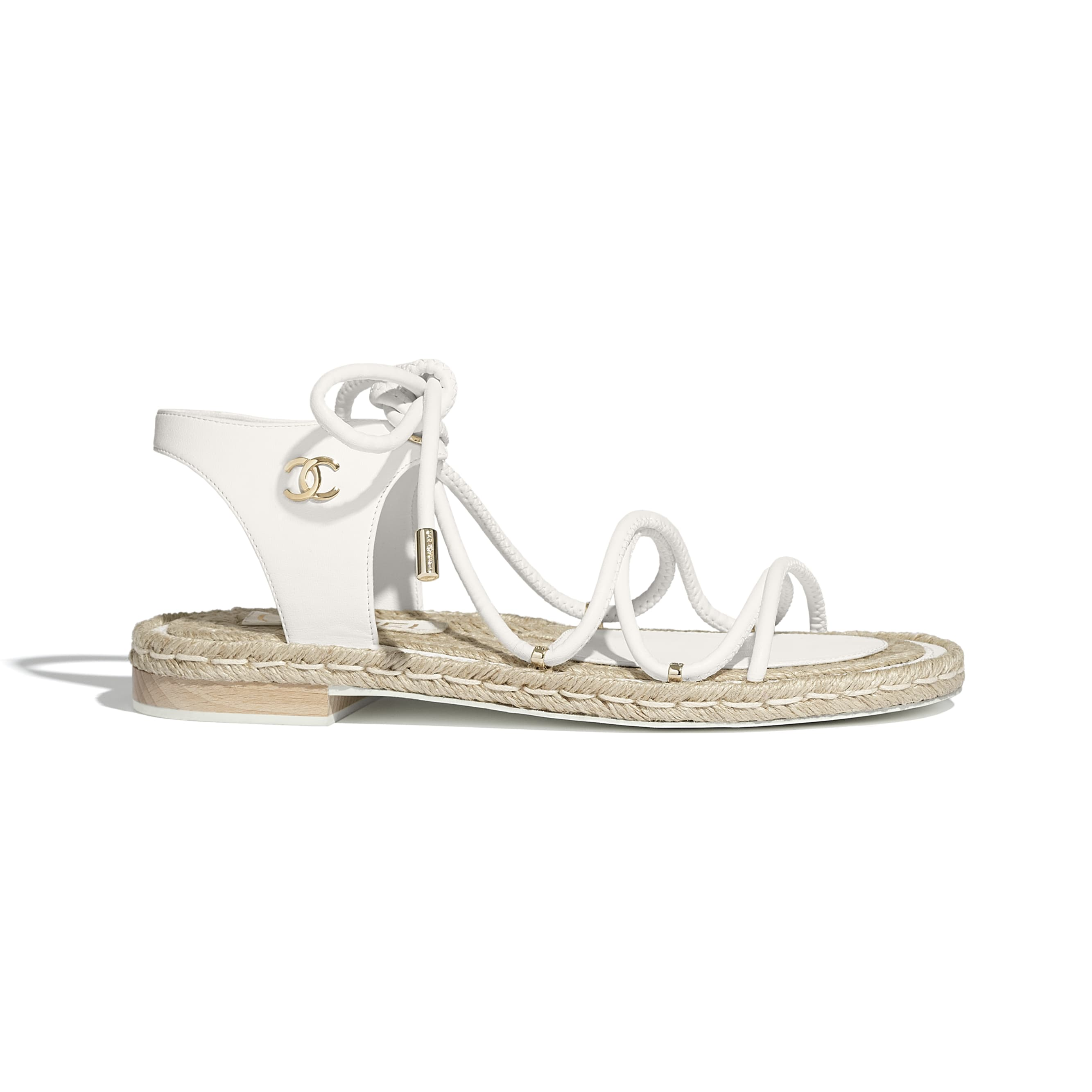 Sandals - White - Lambskin - CHANEL - Default view - see standard sized version