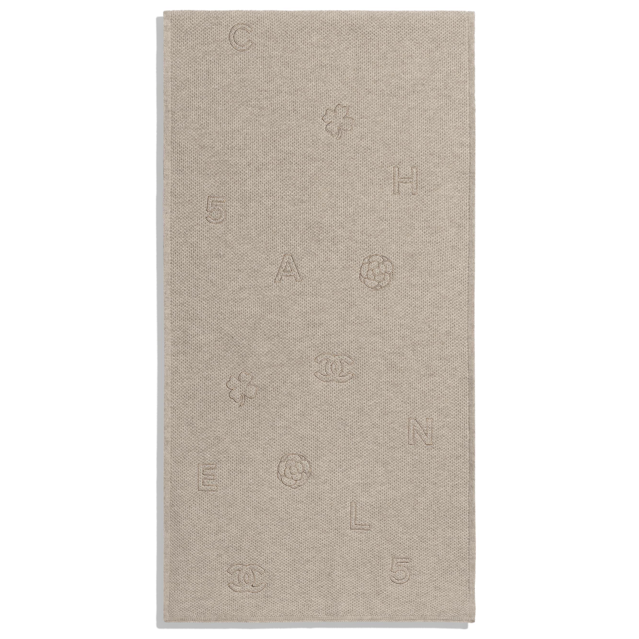 圍巾 - 米 - 開士米 - CHANEL - 替代視圖 - 查看標準尺寸版本