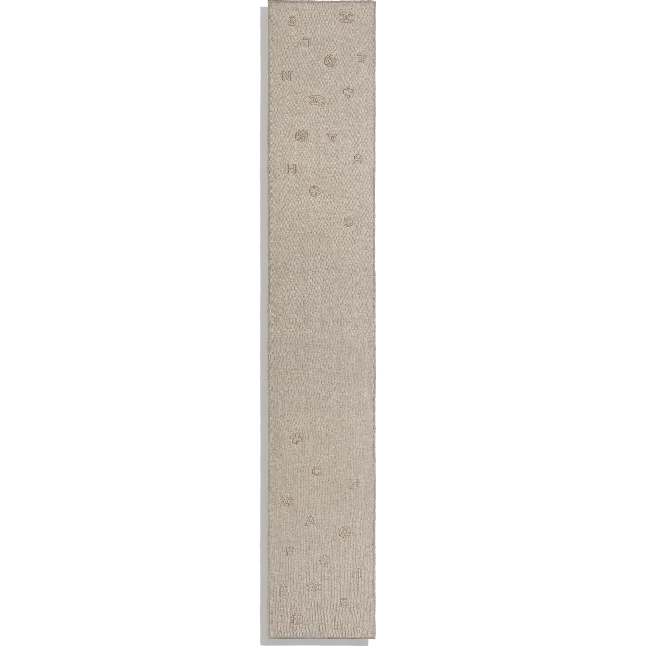 圍巾 - 米 - 開士米 - CHANEL - 其他視圖 - 查看標準尺寸版本
