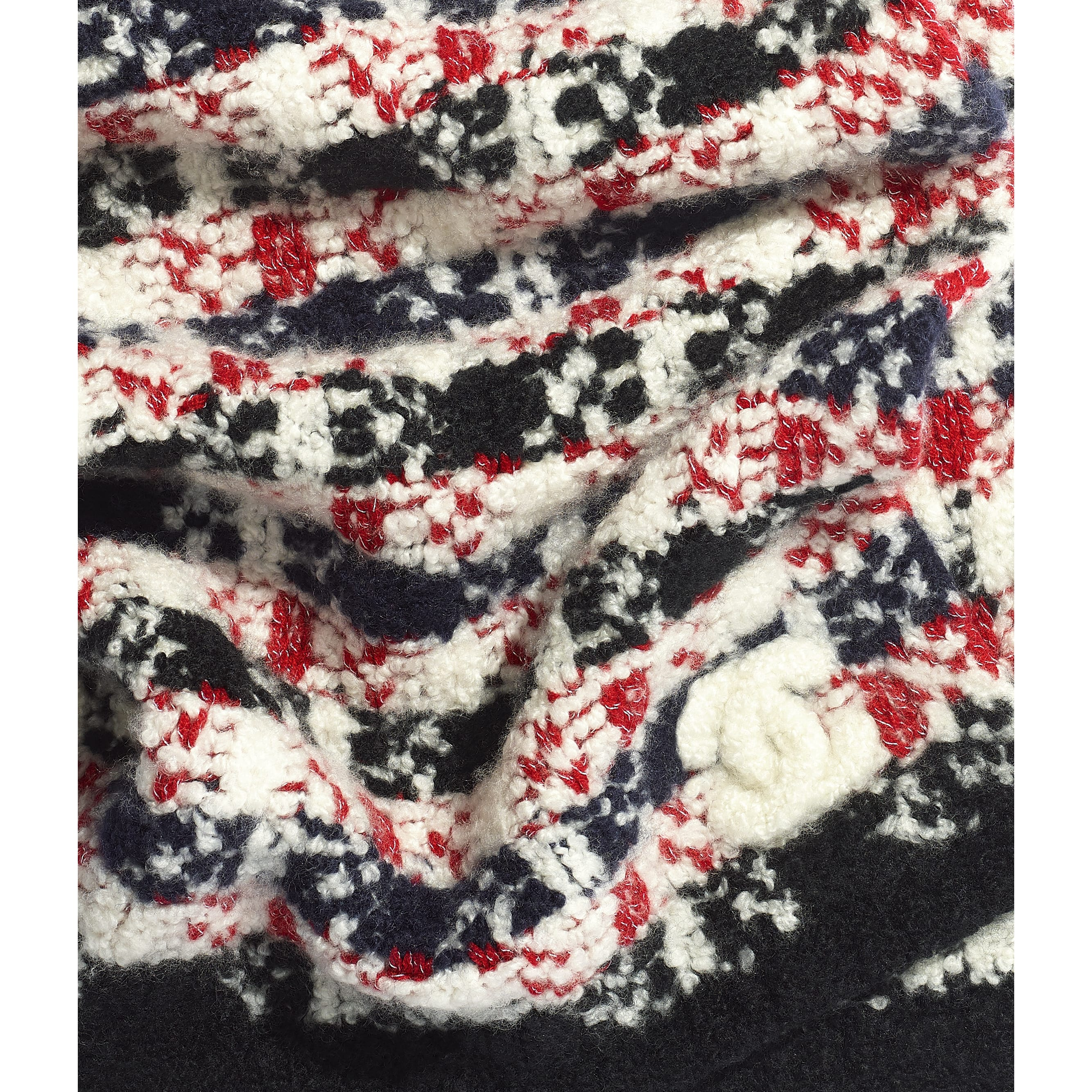 Scarf - Red & Black - Cashmere - Default view - see standard sized version