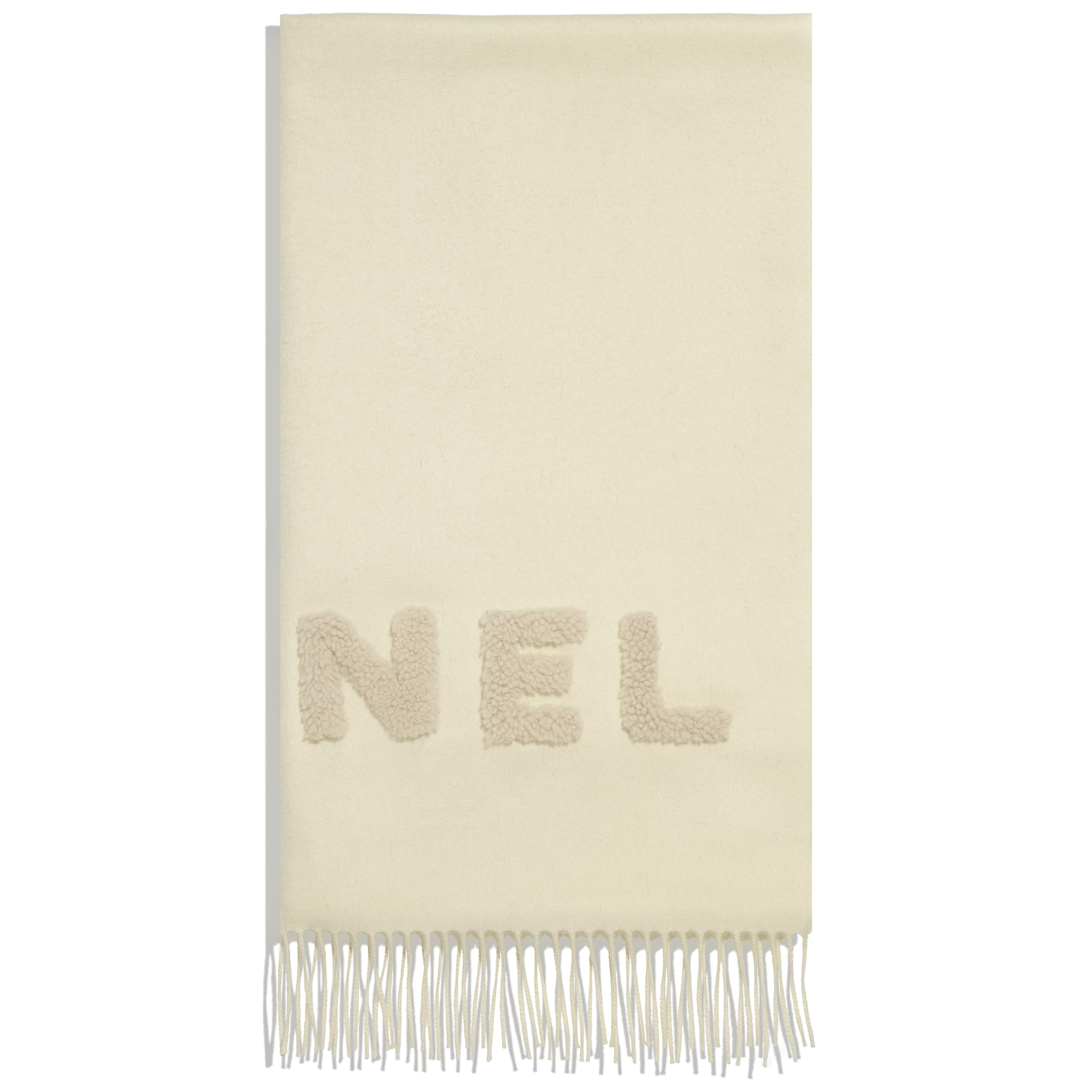 Scarf - White - Cashmere & Shearling - CHANEL - Alternative view - see standard sized version