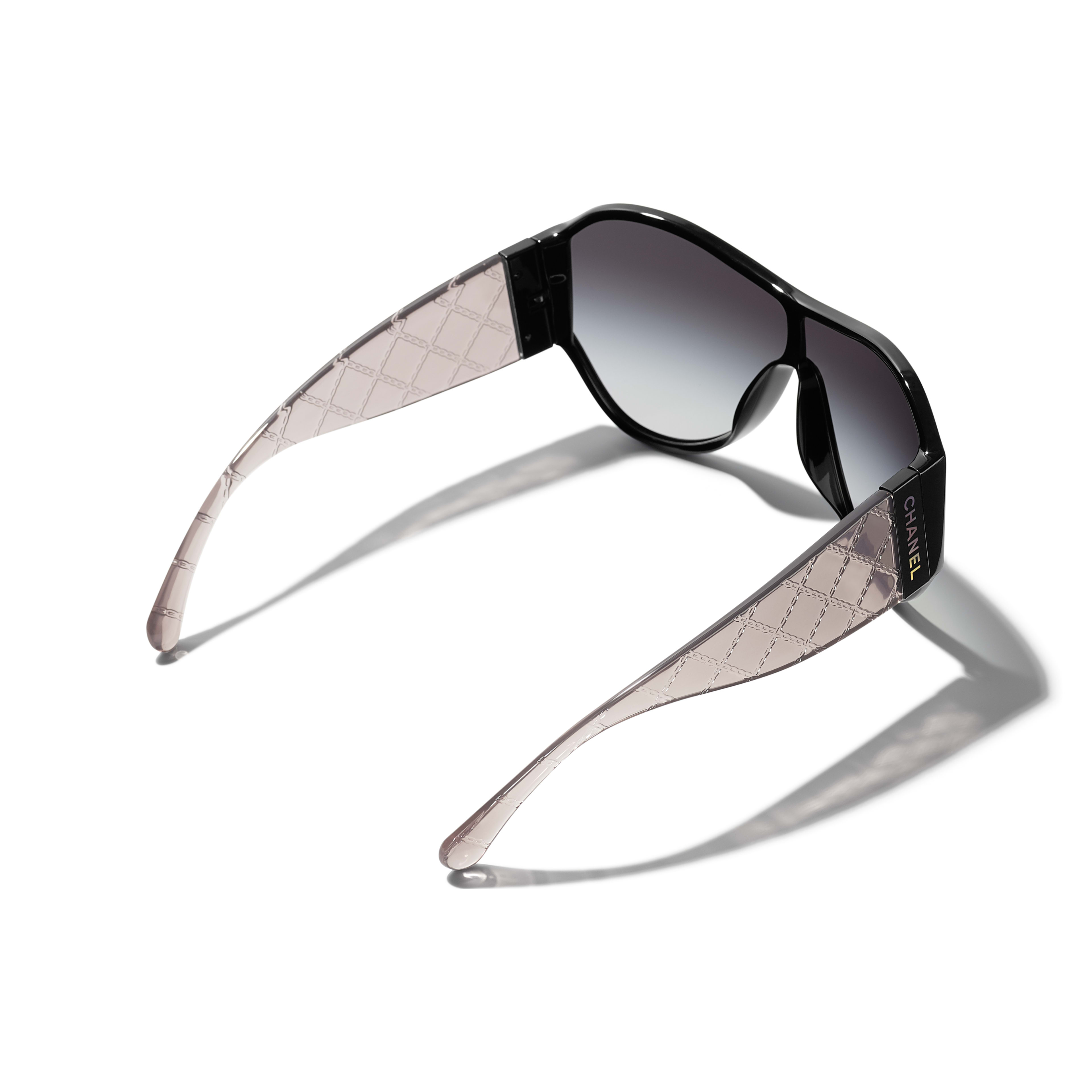 Shield Sunglasses - Black - Acetate - CHANEL - Extra view - see standard sized version