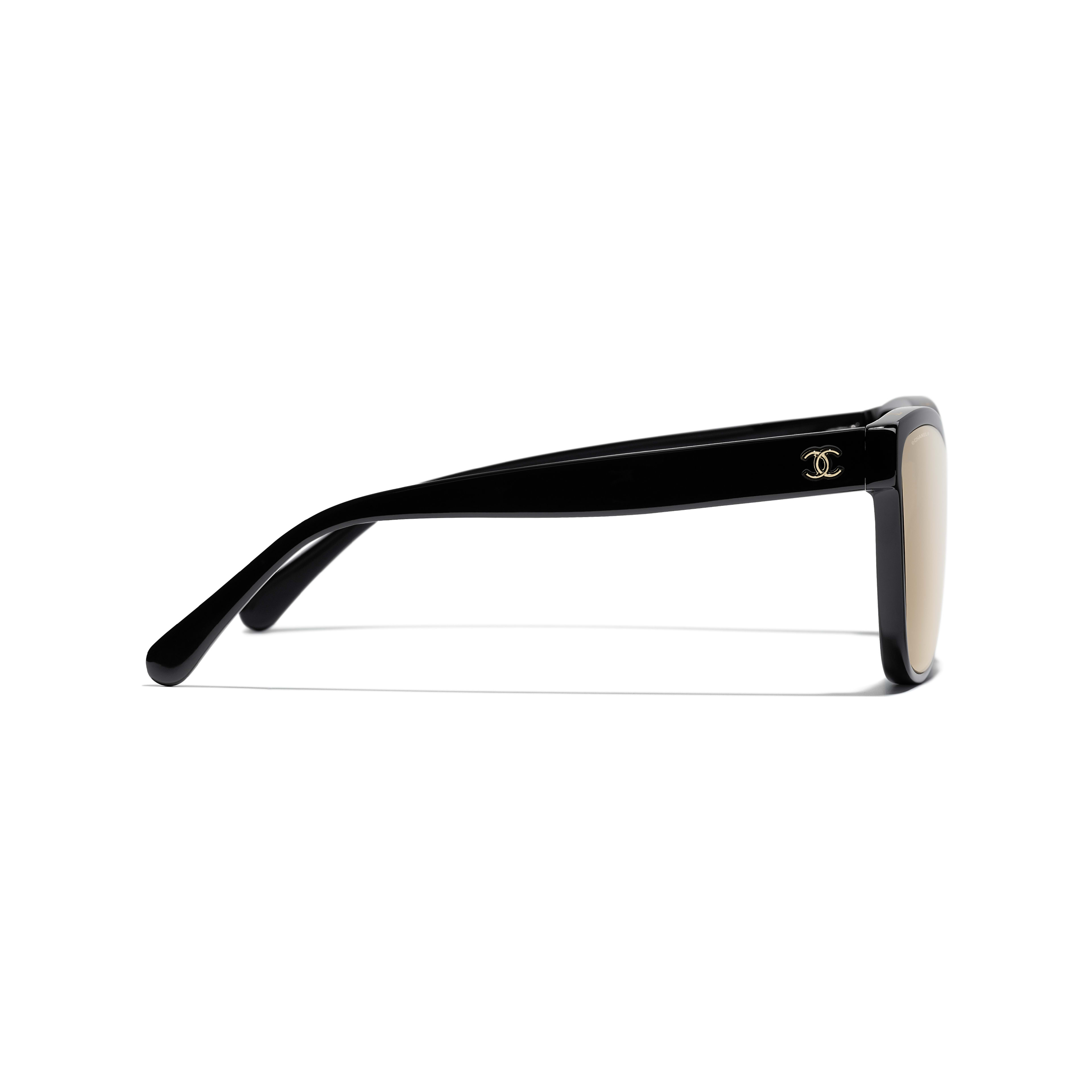 Shield Sunglasses - Black - Acetate - CHANEL - Other view - see standard sized version