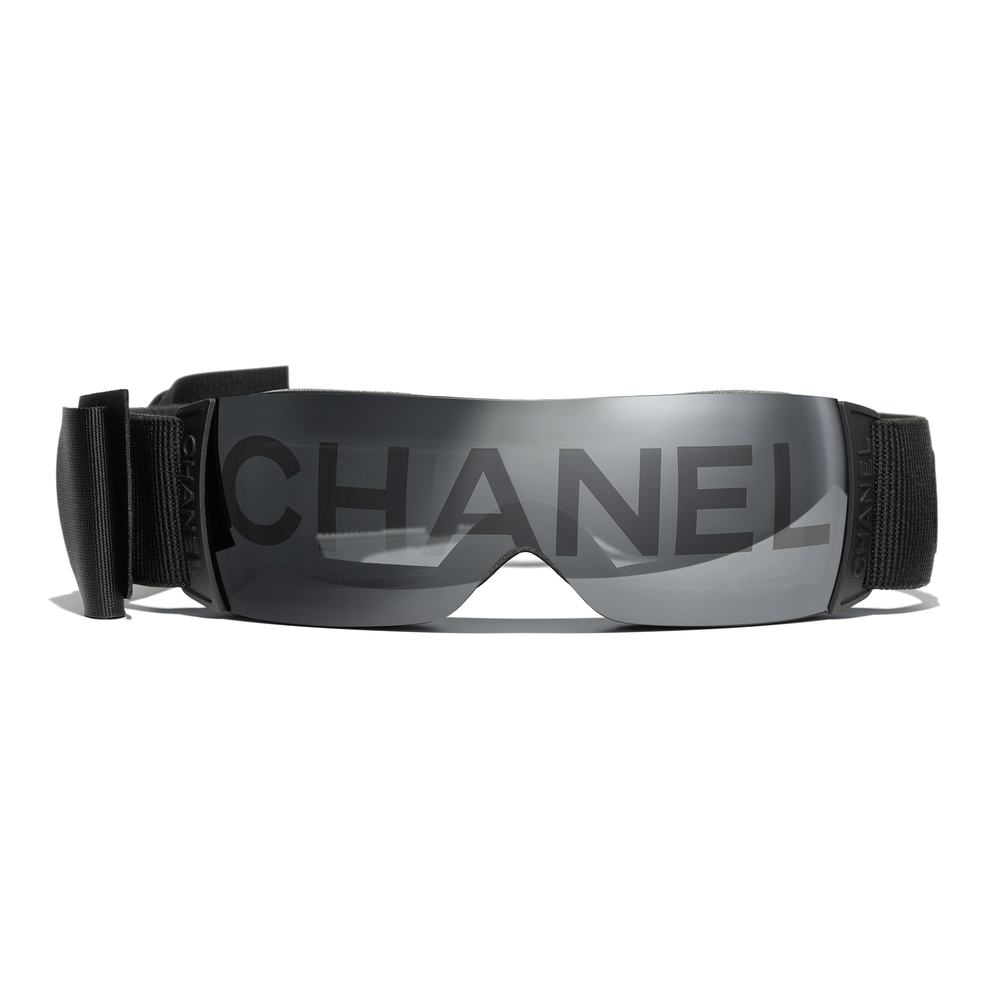 Shield Sunglasses - Black - Nylon Fibre - CHANEL - Alternative view - see standard sized version