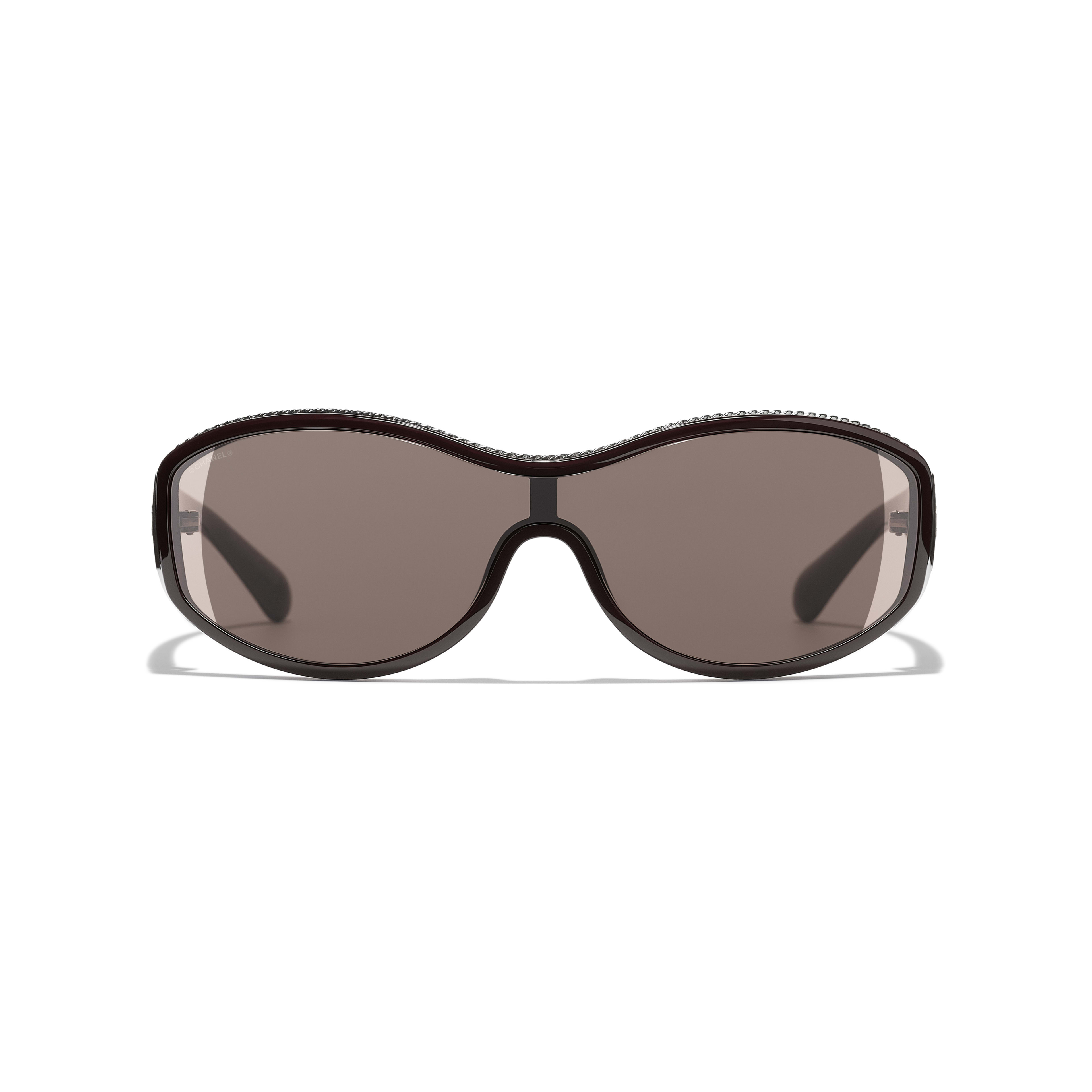 Shield Sunglasses - Burgundy - Nylon & Metal - Alternative view - see standard sized version