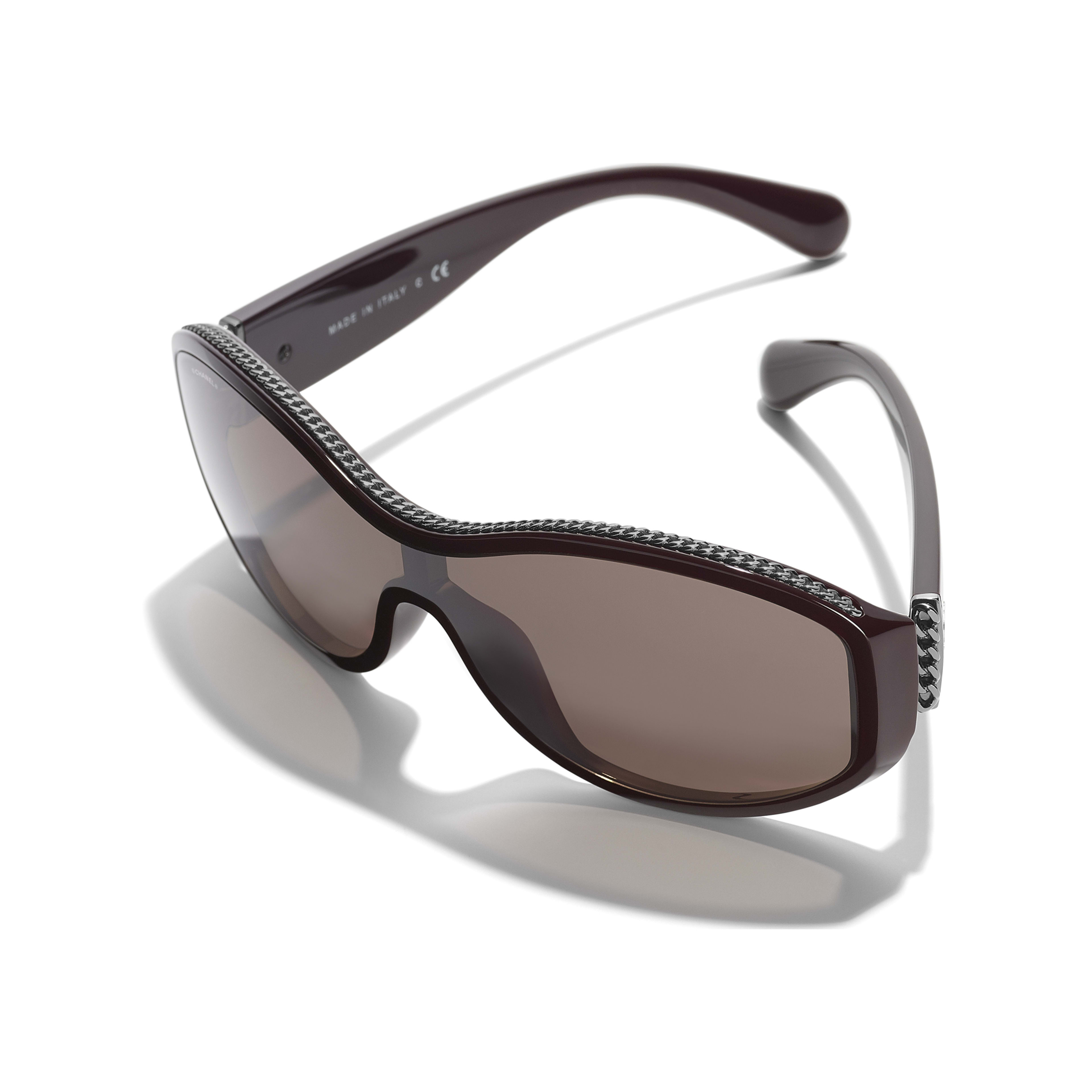 Shield Sunglasses - Burgundy - Nylon & Metal - Extra view - see standard sized version